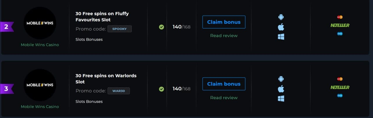 How to claim 30 free spins