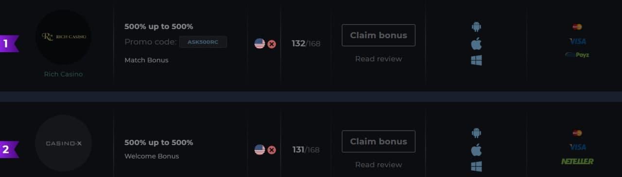 How to claim 500% bonus