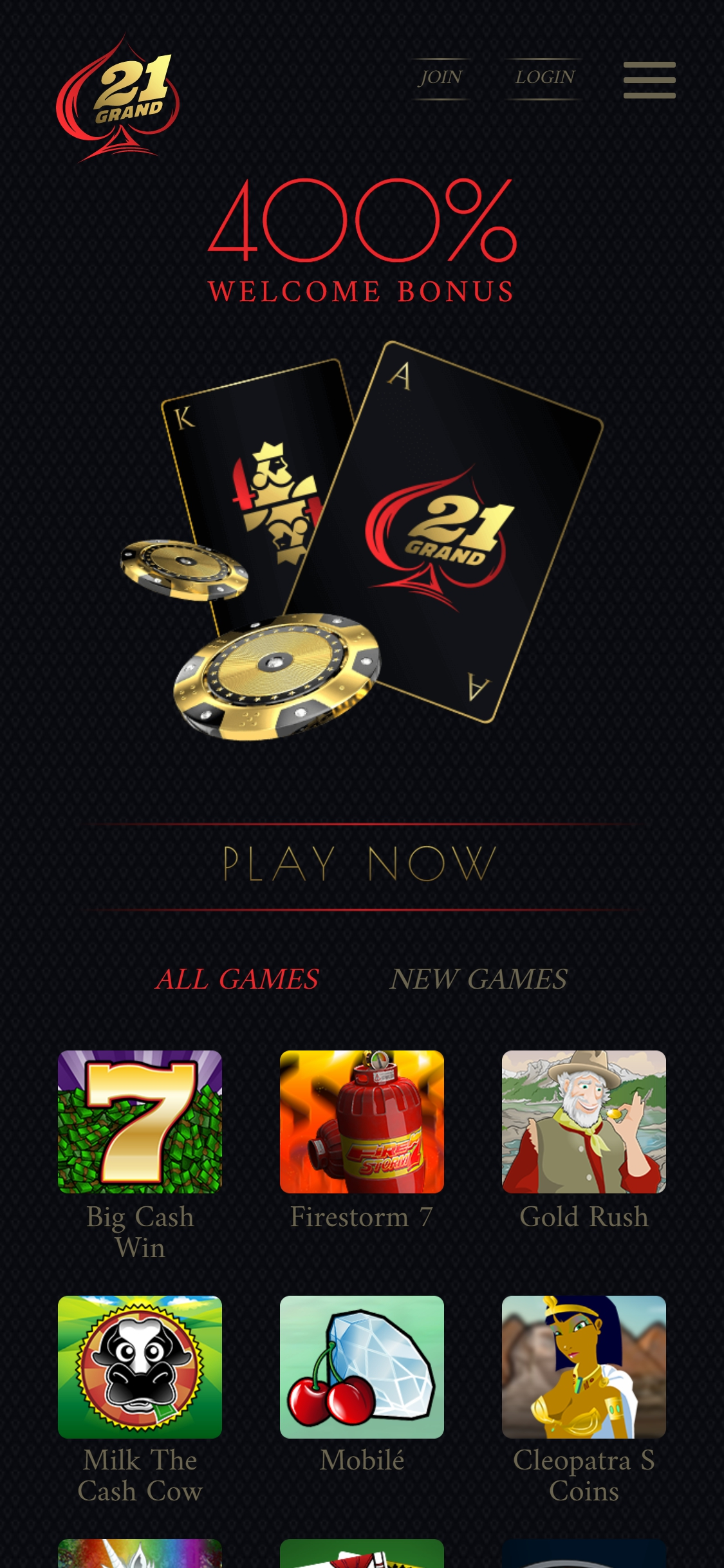 21 Grand Casino Europe Review