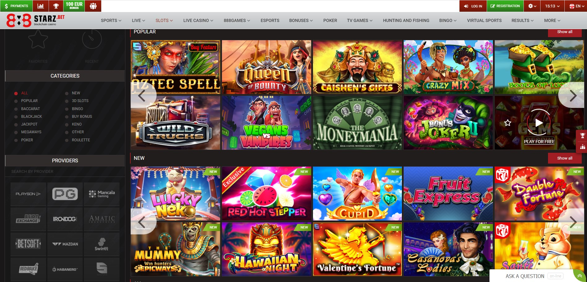 888Starz Casino Games