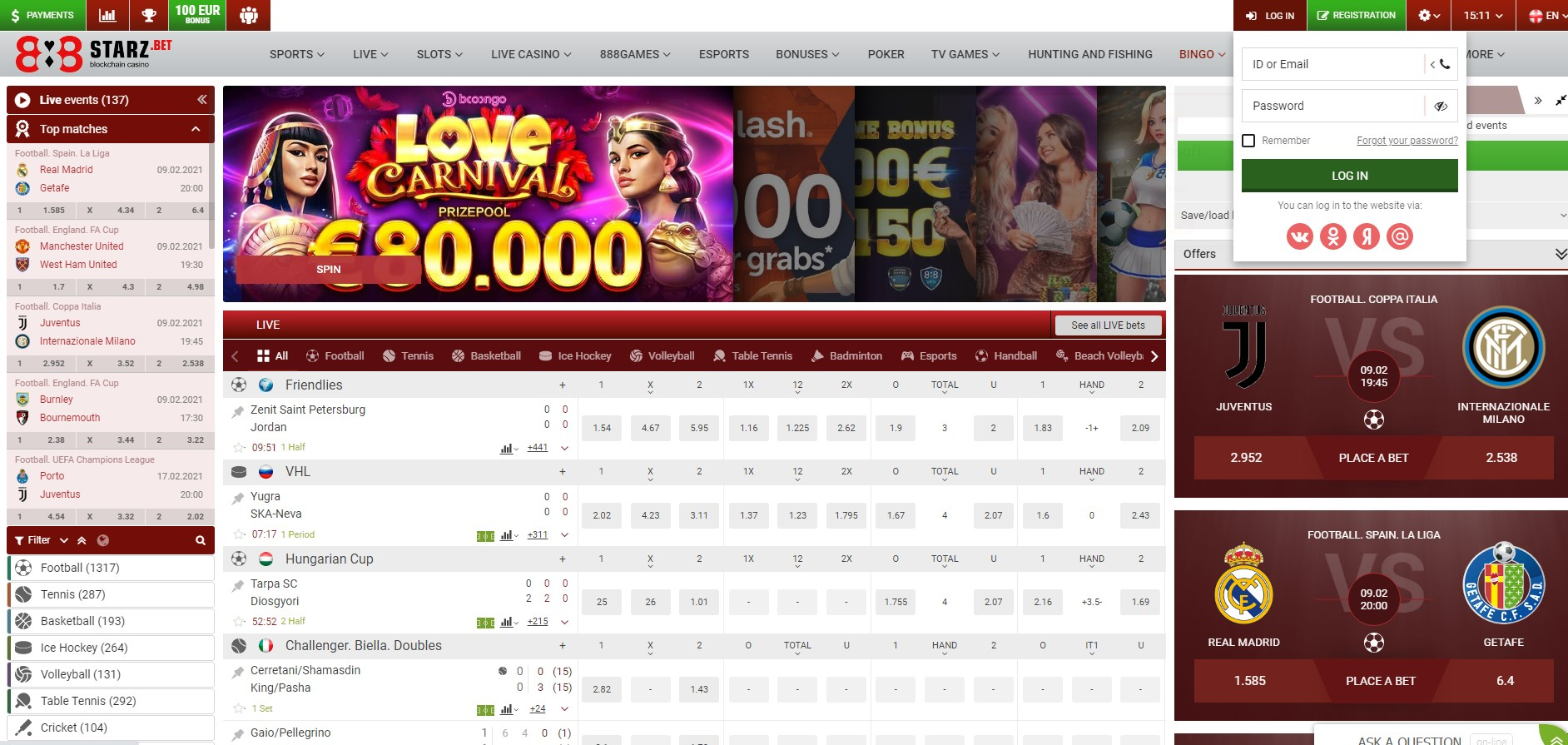 888Starz Casino Login