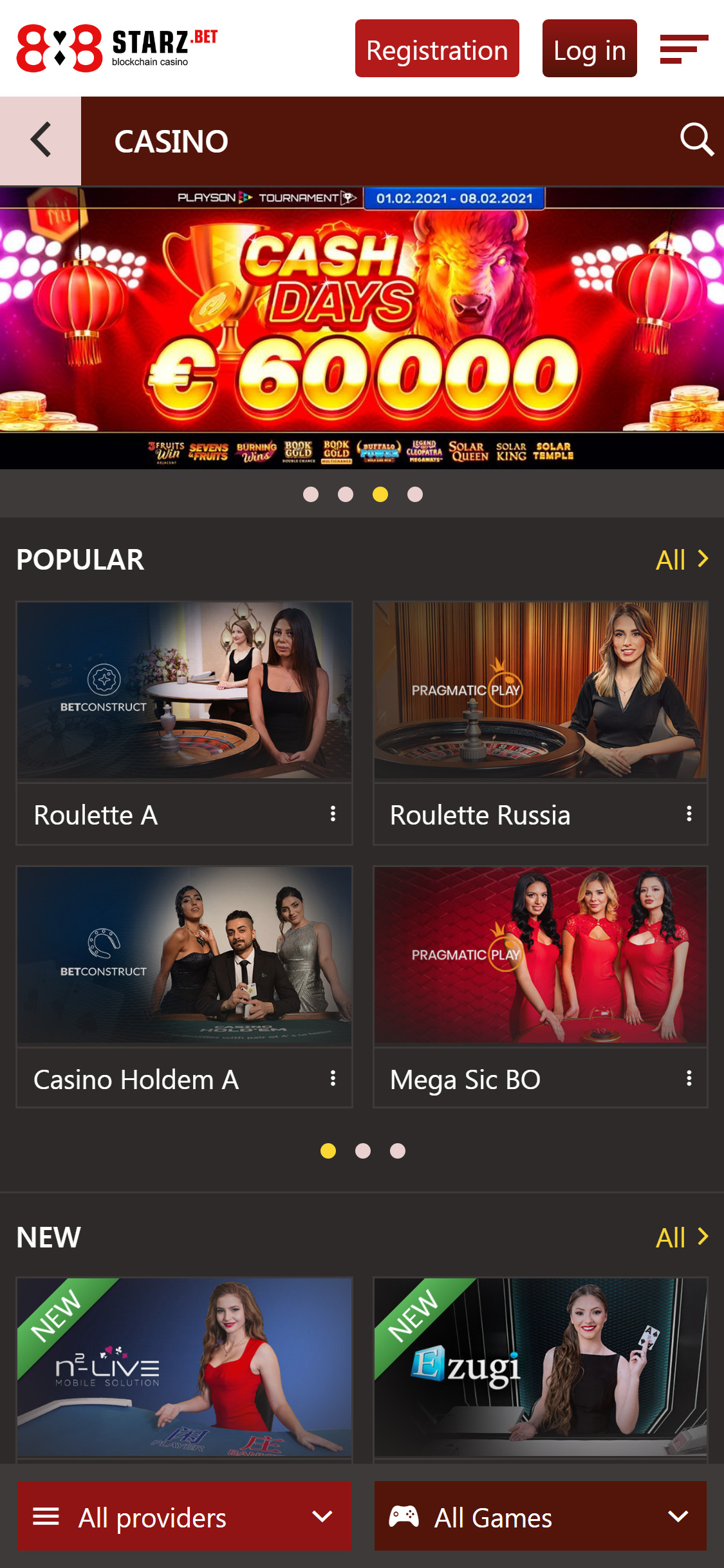 888Starz Casino Live Dealer Games