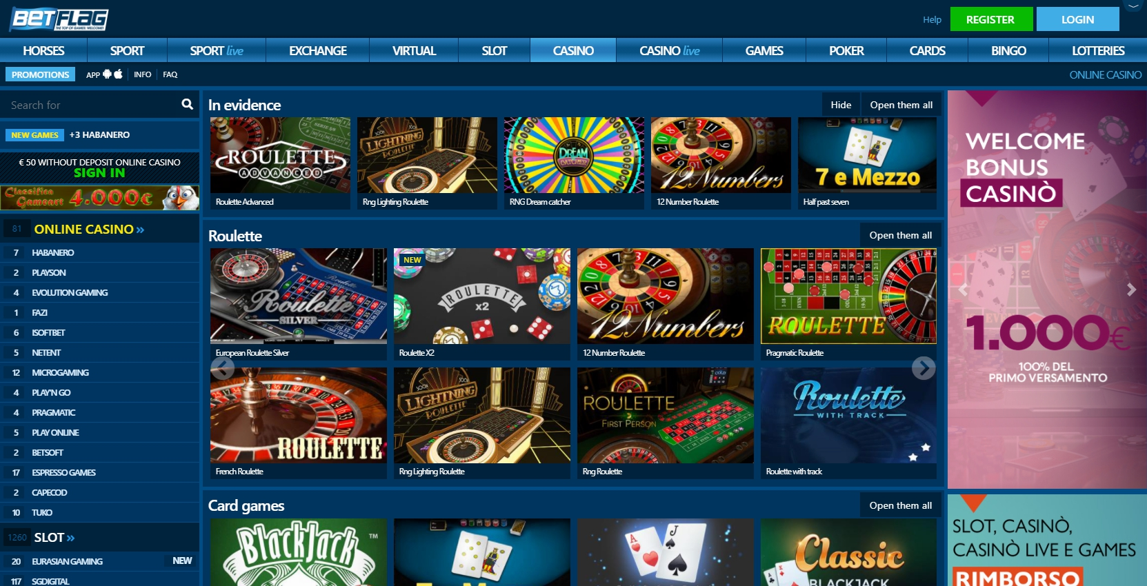 Betflag Casino Games