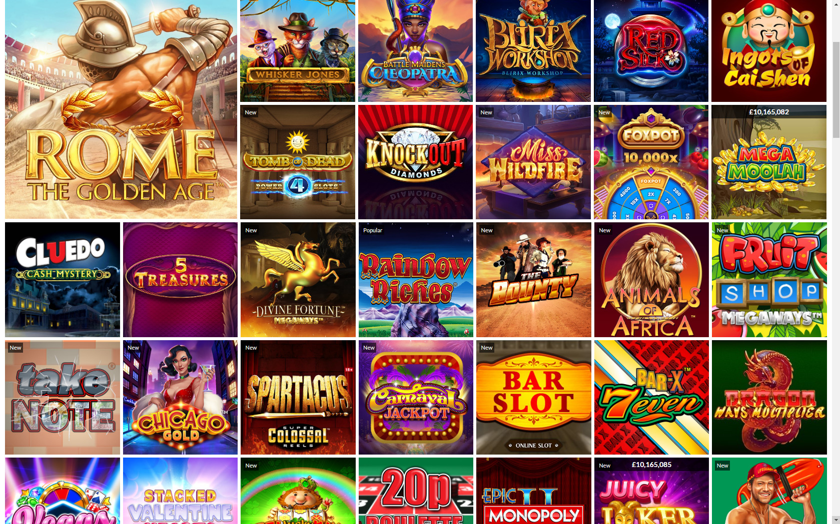 Black Type Casino Games