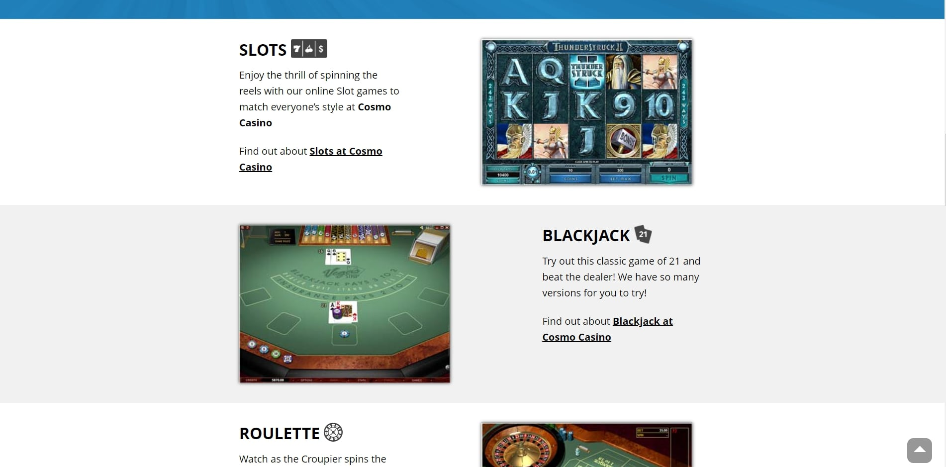 Captain Cook UK Casino Games