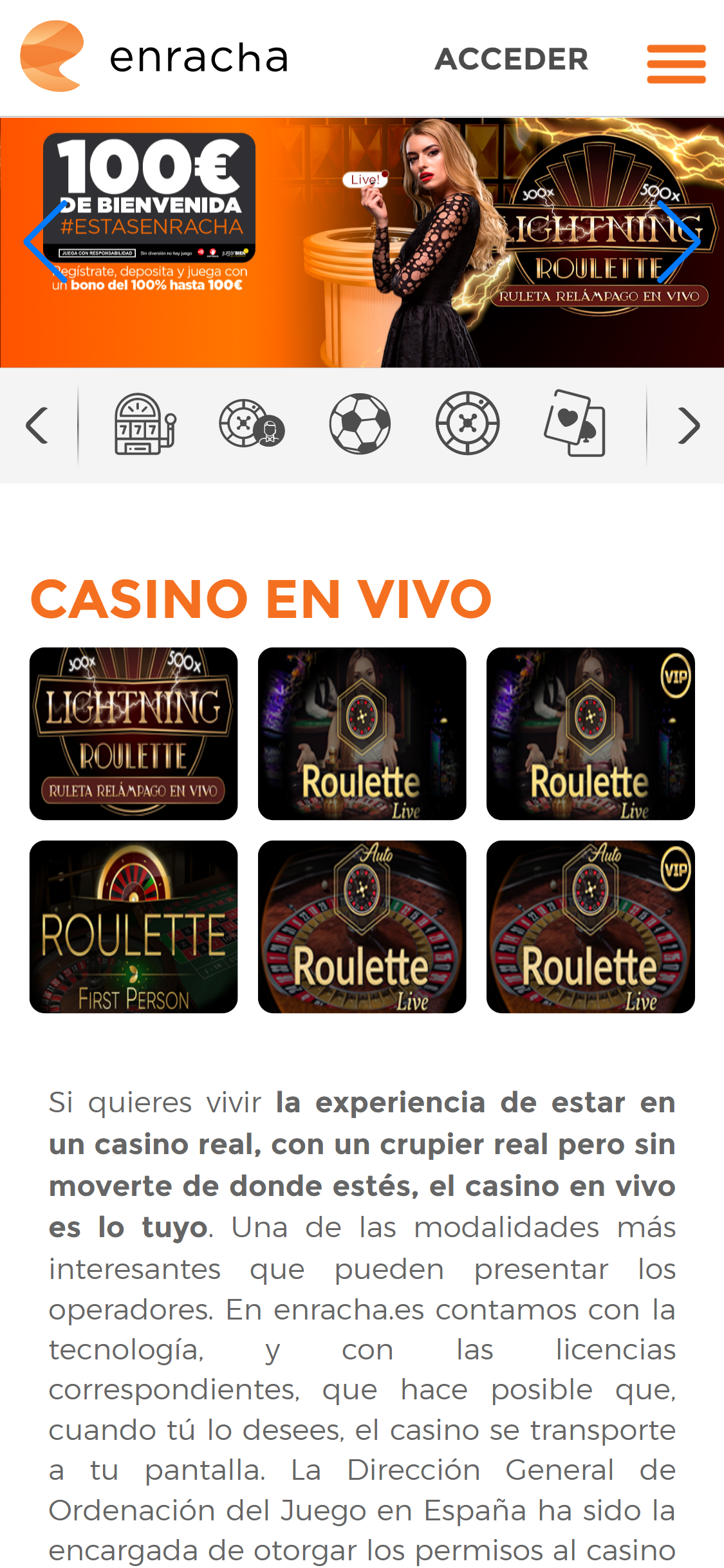 Enracha Live Dealer Games