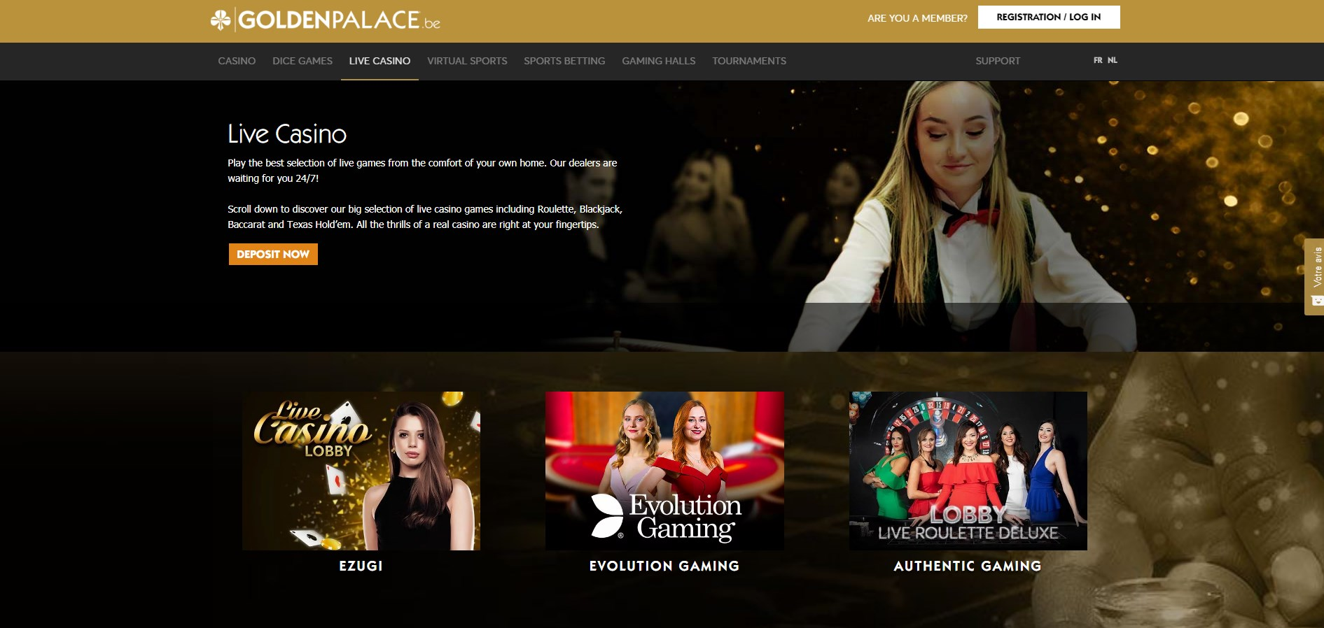 Golden Palace (BE) Casino Live Dealer Games