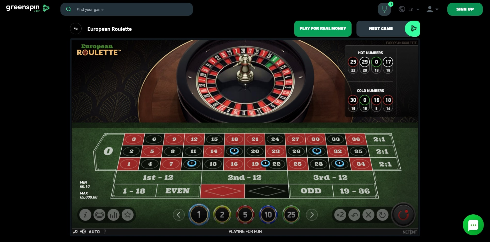 Greenspin Casino Casino Games