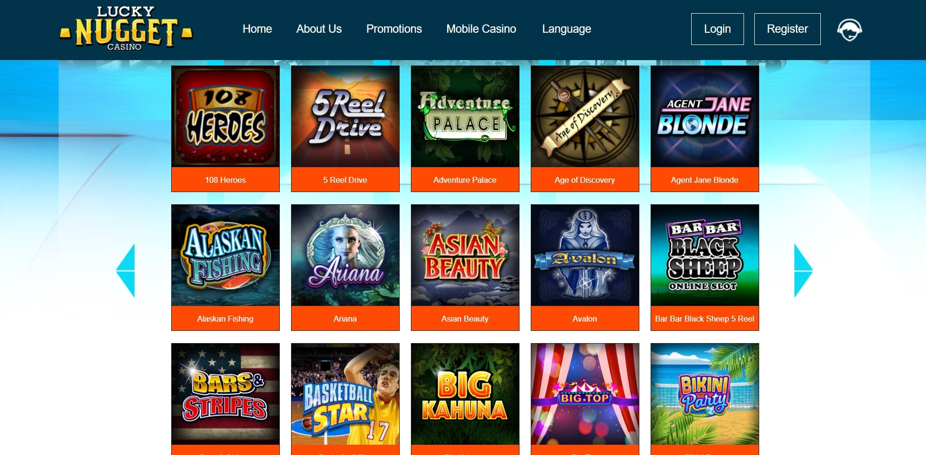 Lucky Nugget Casino US Games