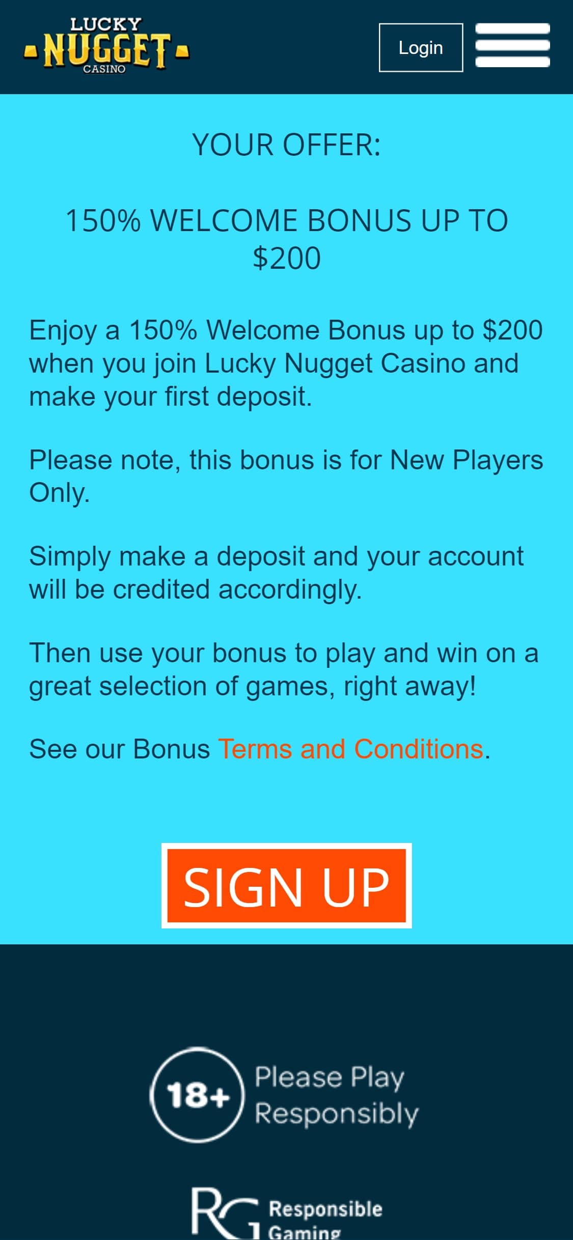Lucky Nugget Casino US No Deposit Bonus