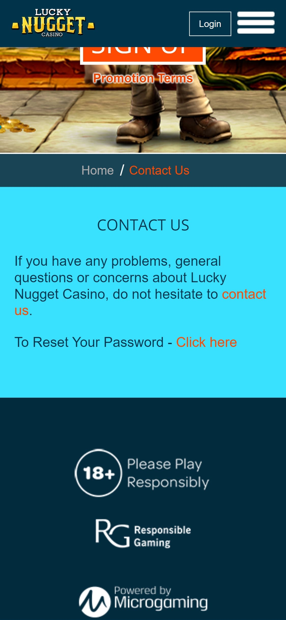 Lucky Nugget Casino US Support
