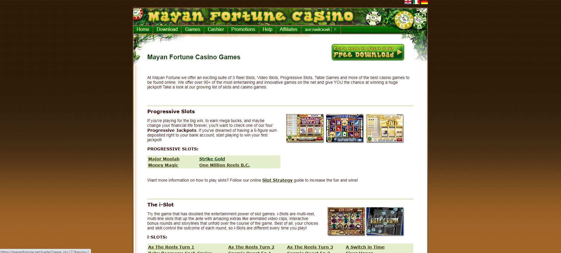 Mayan Fortune Casino Games