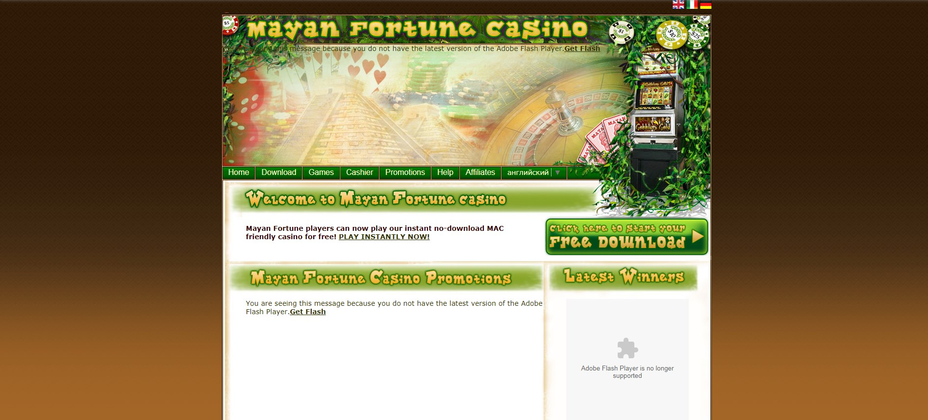 Mayan Fortune Casino Review