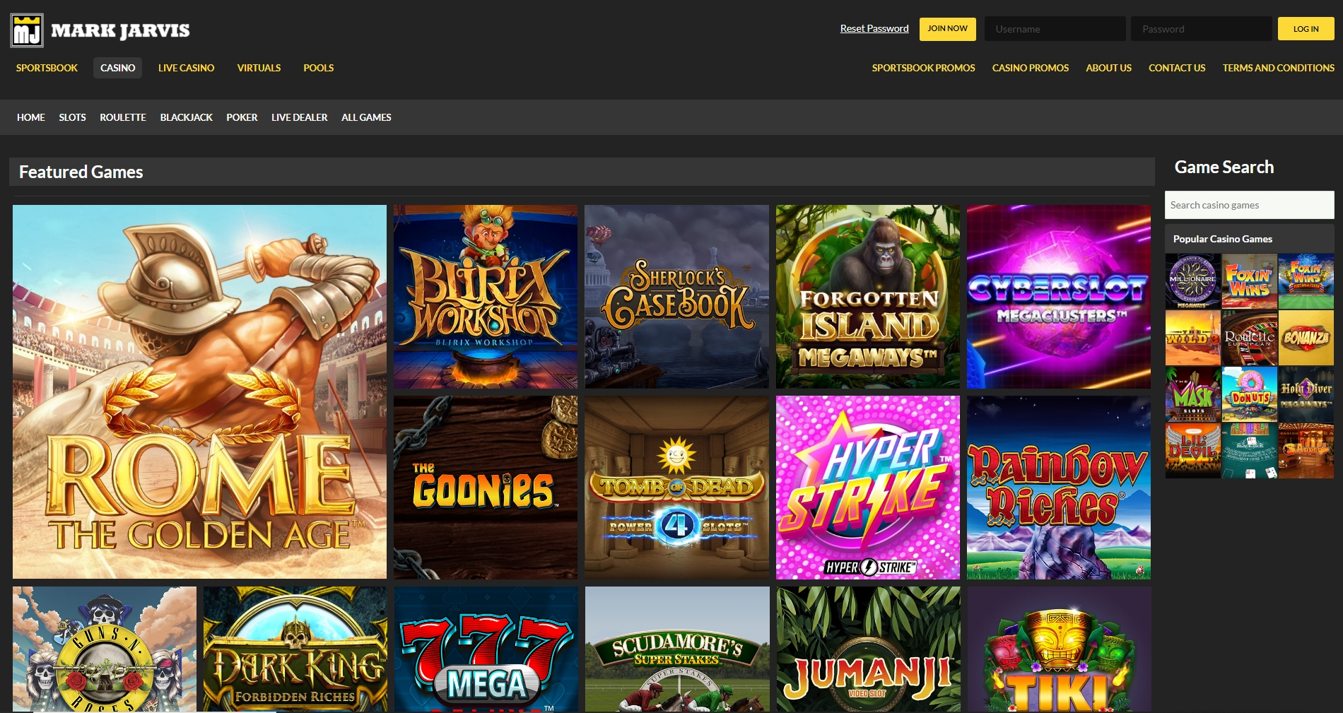MJ Sports Casino Review