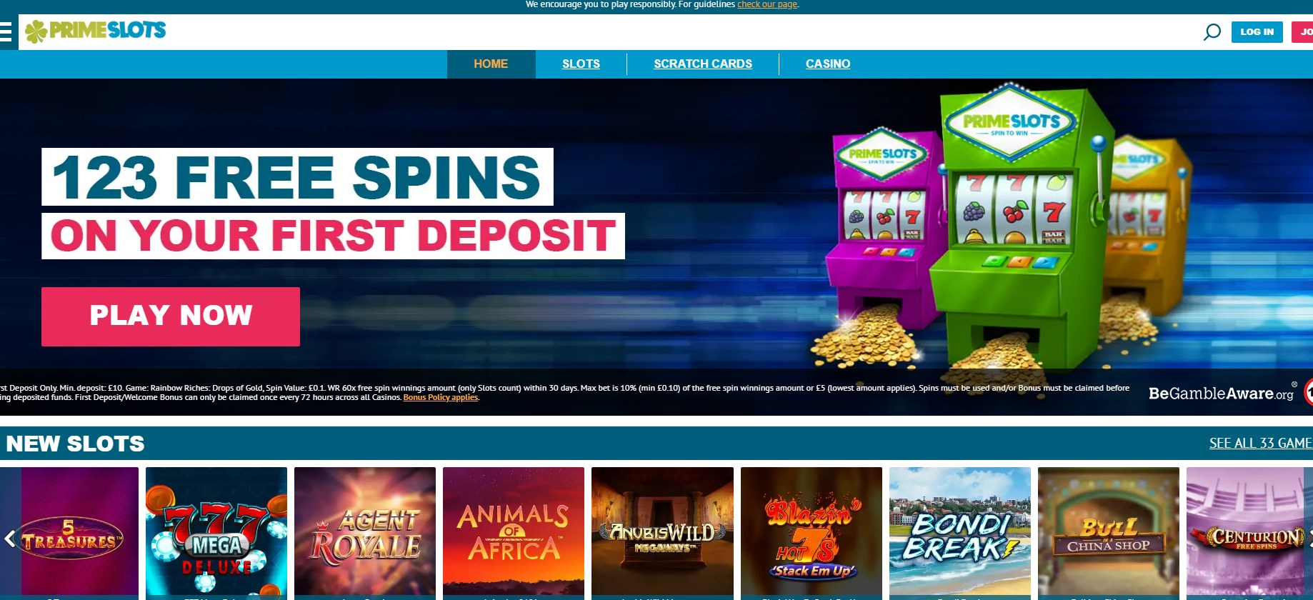 Prime Slots UK Casino Review