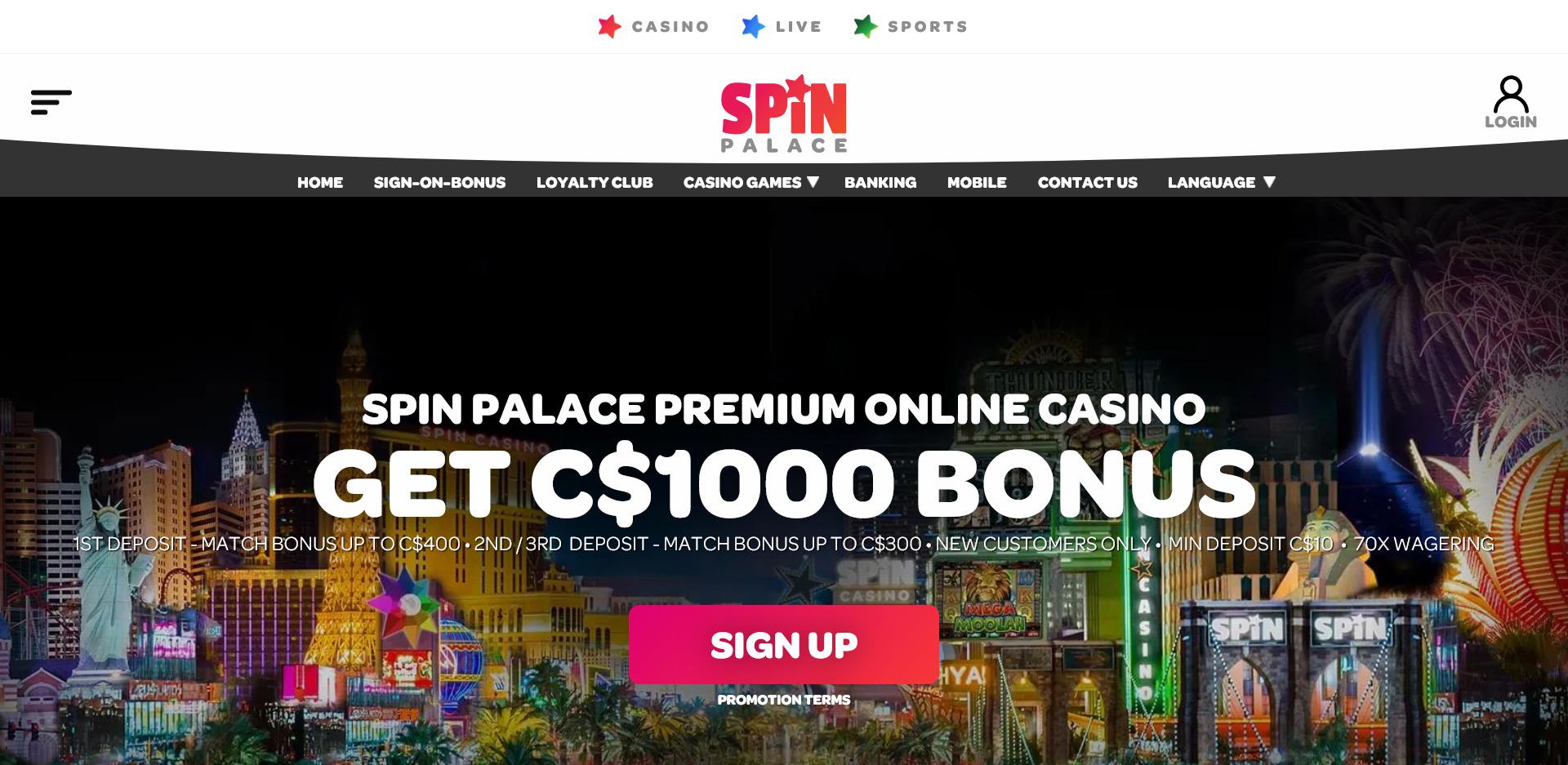 Spin Palace Casino Com