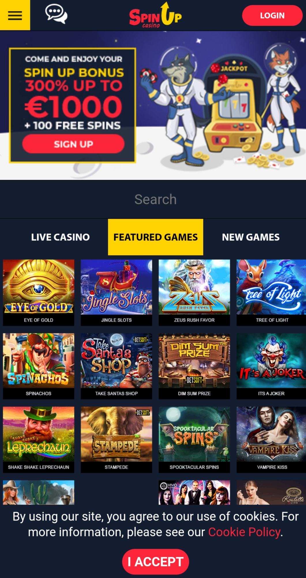 SpinUp Casino Review