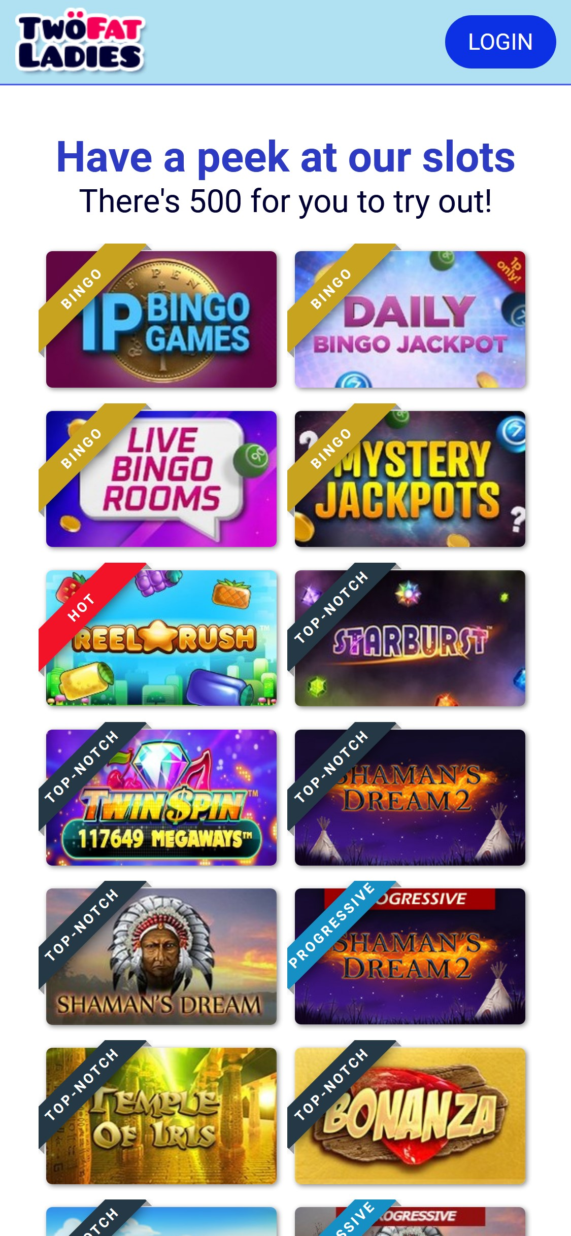 Two Fat Ladies Casino Games