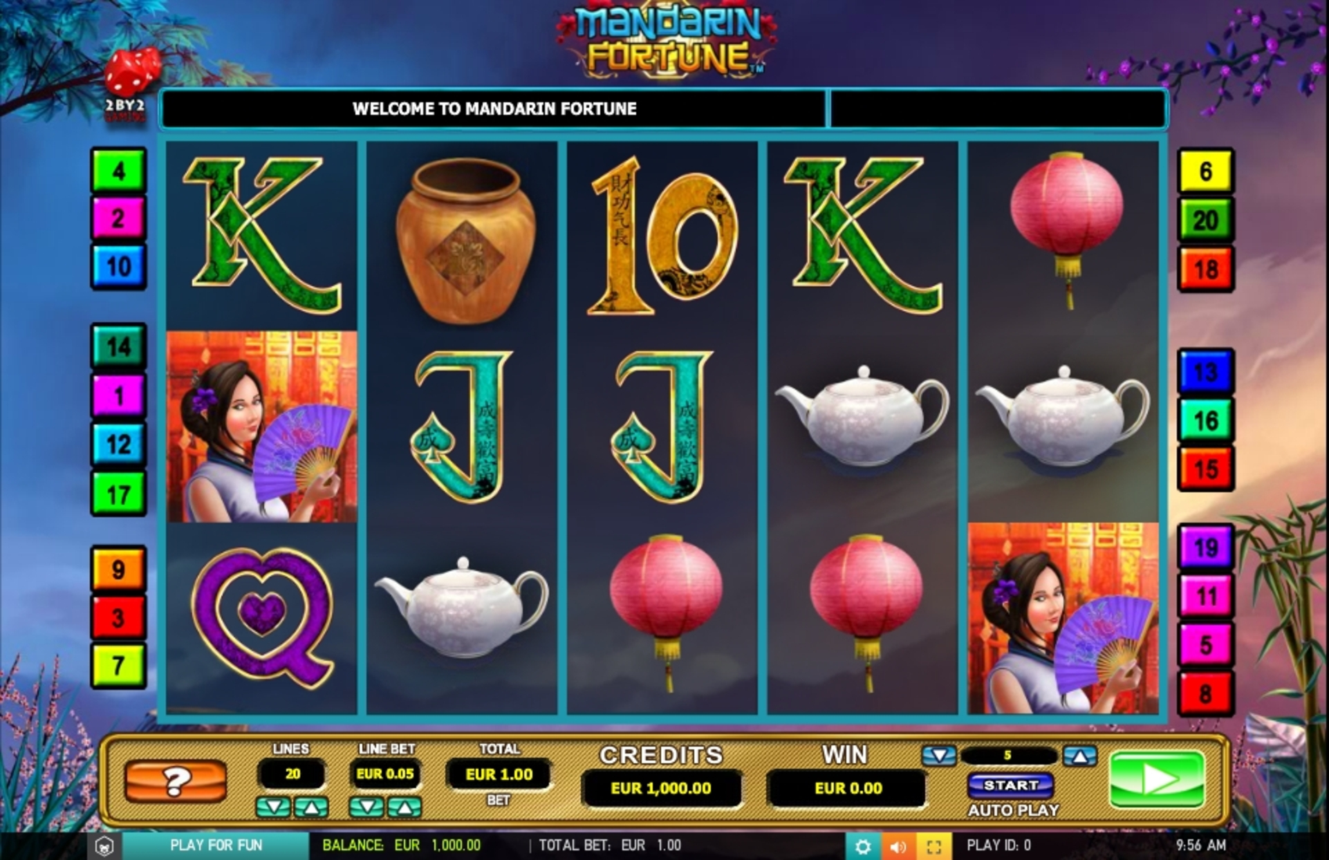 Reels in Mandarin fortune Slot Game by 2 By 2 Gaming