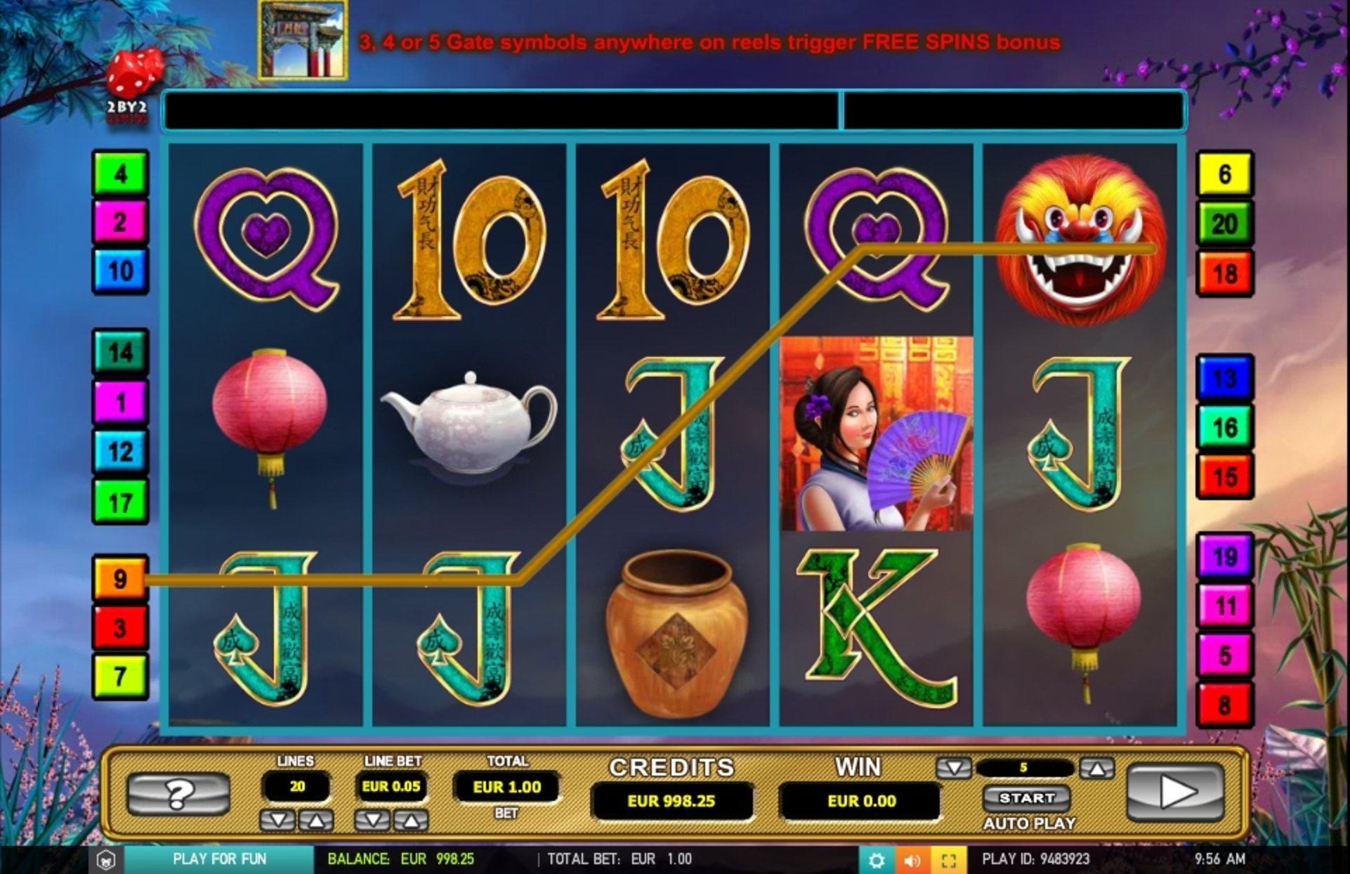 Win Money in Mandarin fortune Free Slot Game by 2 By 2 Gaming