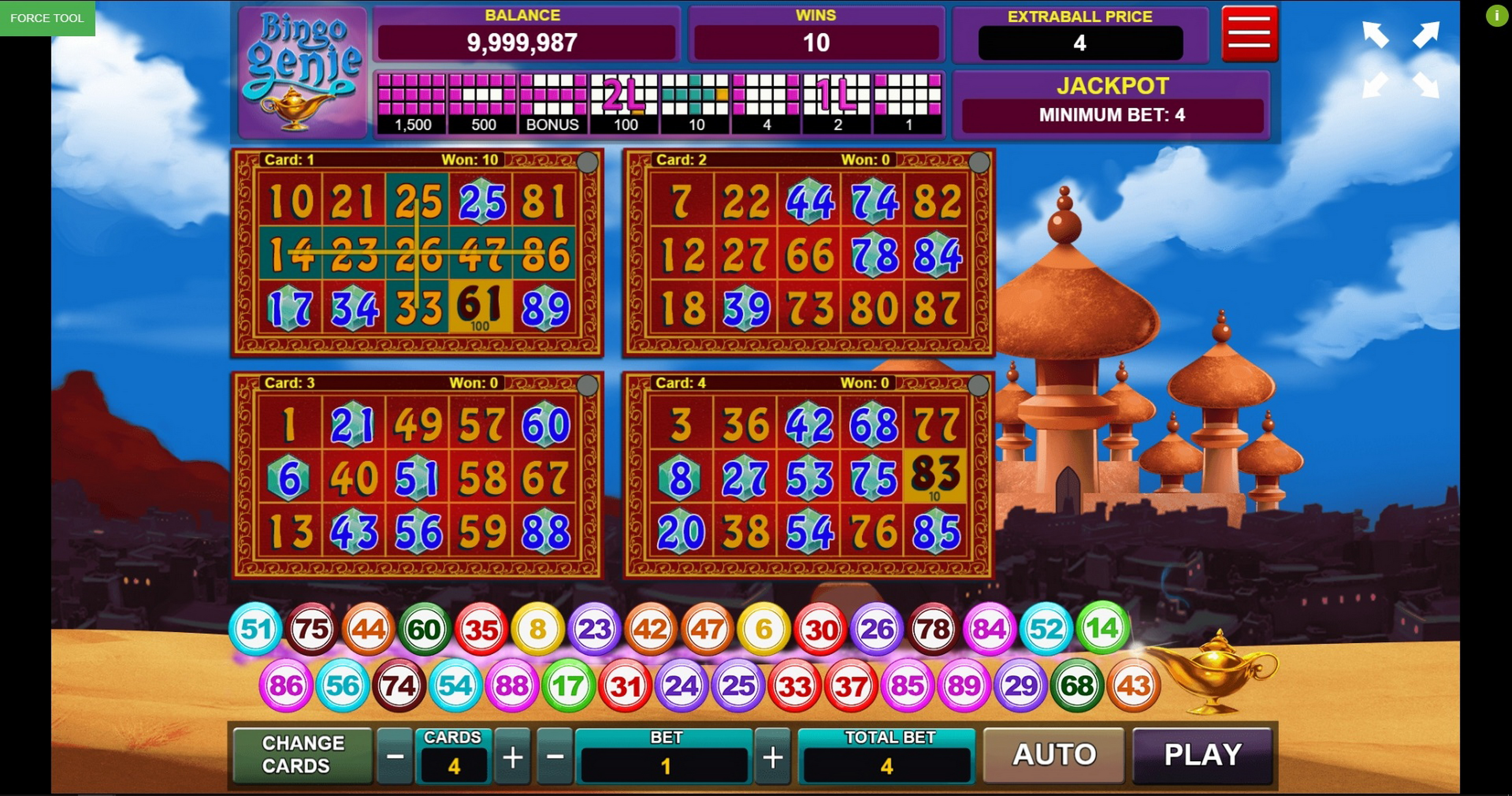 Win Money in Bingo Genie Free Slot Game by Caleta Gaming