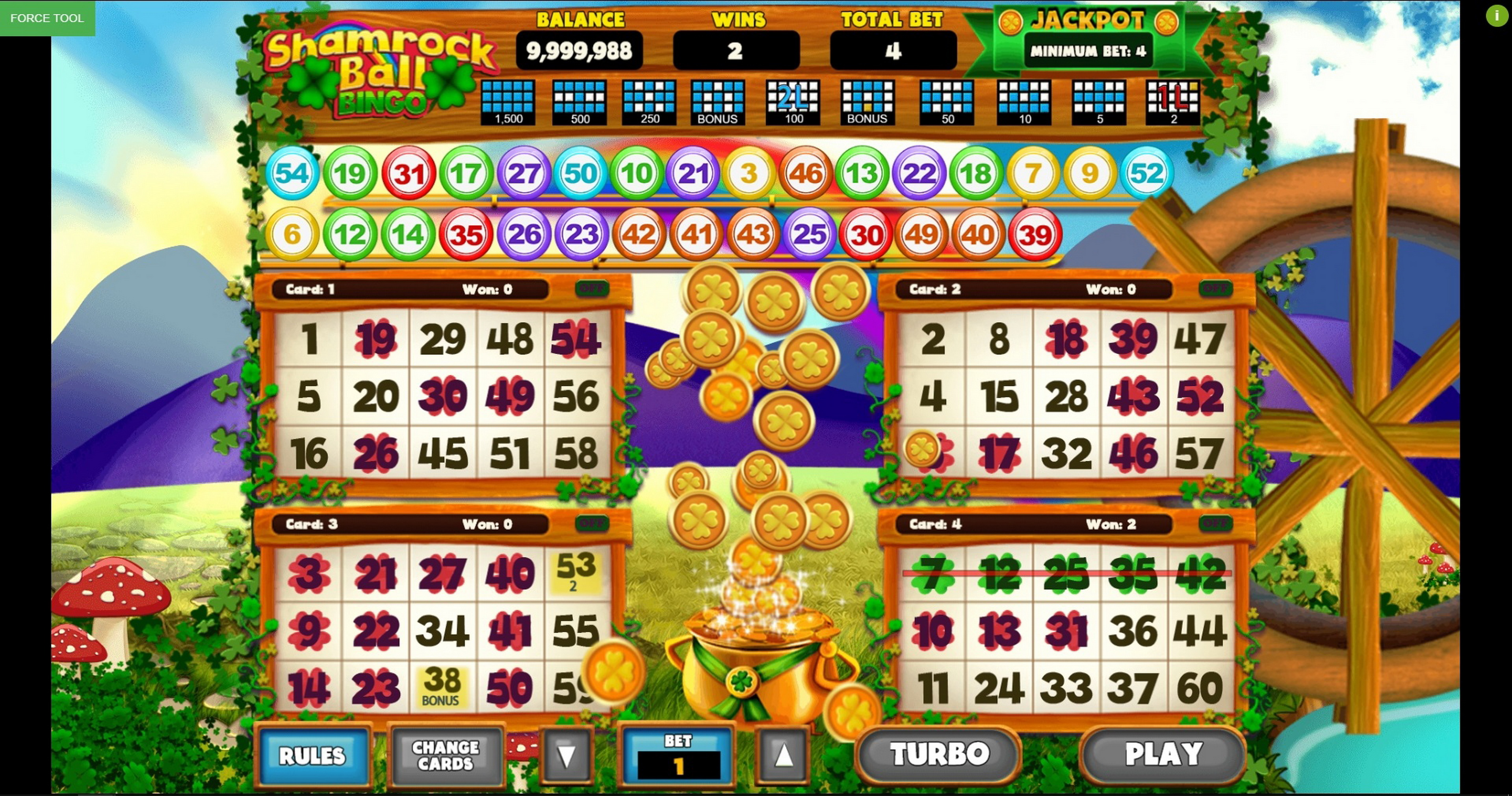 Win Money in Bingo Shamrock Ball Free Slot Game by Caleta Gaming
