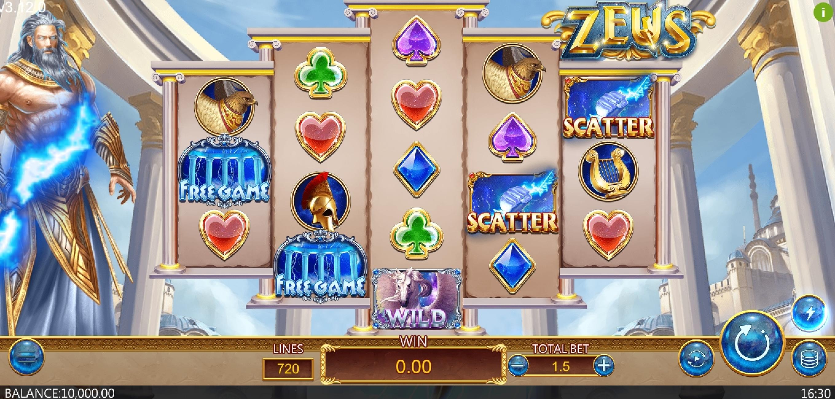 Zeus (Dragoon Soft) สาธิตการเล่นฟรี ✓ สล็อตแมชชีนออนไลน์โดย Dragoon Soft Review