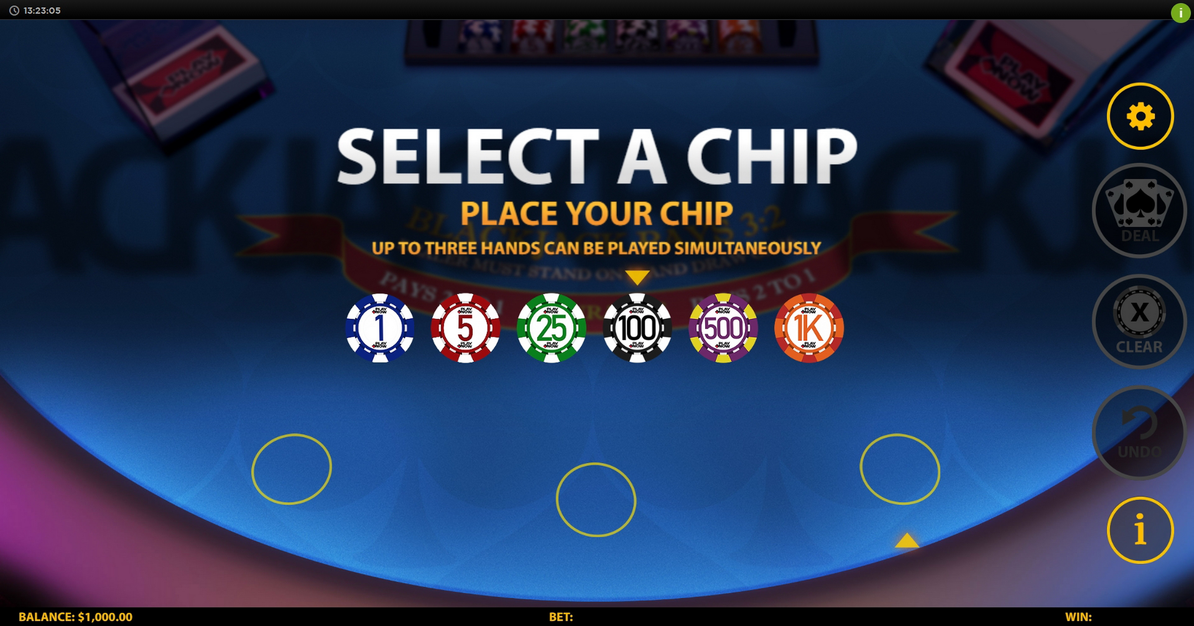 Reels in 3 Hand Blackjack (HungryBear) Slot Game by HungryBear