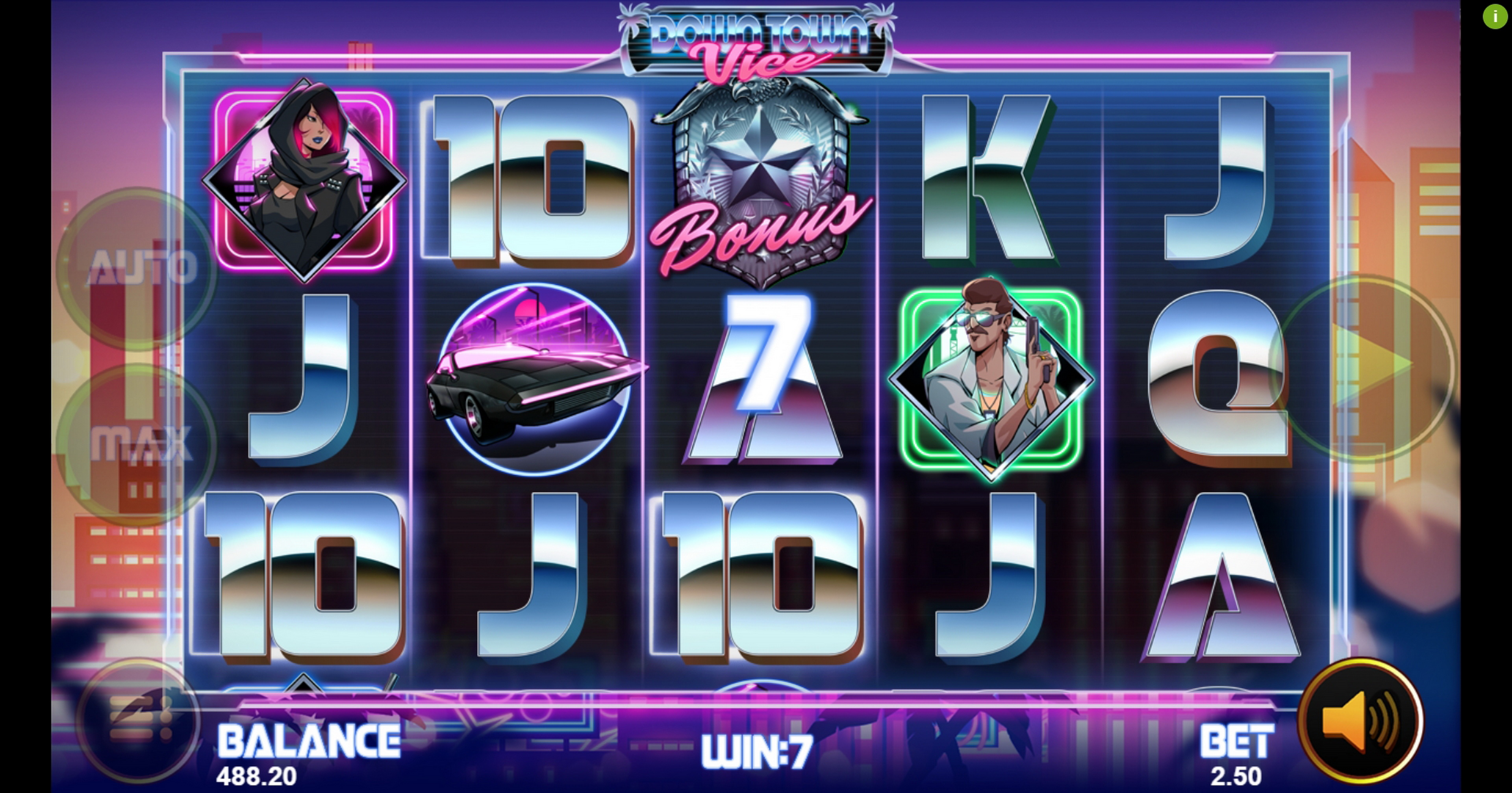 Win Money in Downtown Vice Free Slot Game by Magma