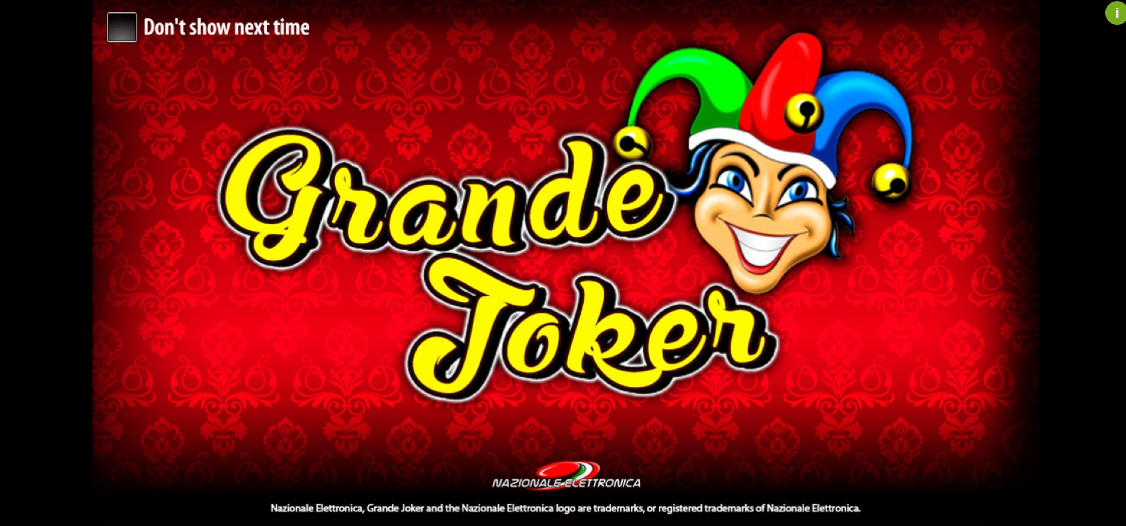 Play Grande Joker Free Casino Slot Game by Nazionale Elettronica