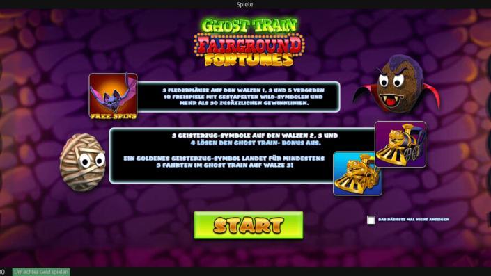 Fairground Fortunes Ghost Train Slot Machine
