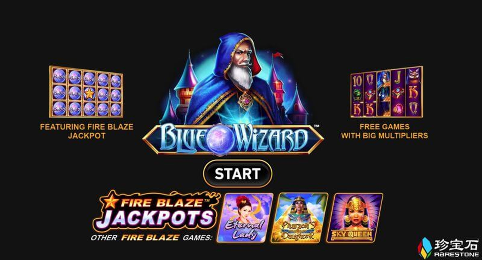 The Blue Wizard Online Slot Demo Game by Rarestone Gaming