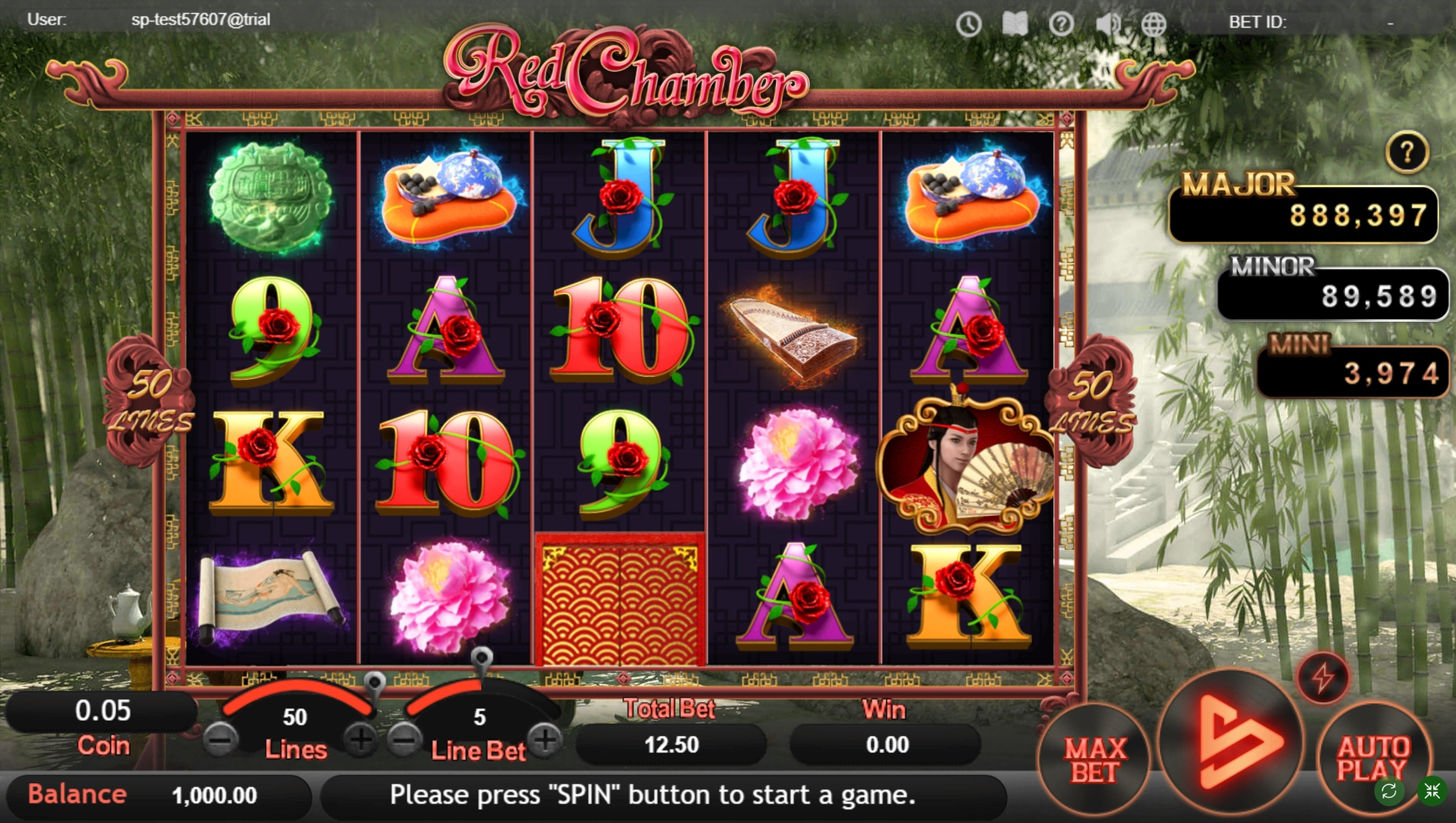 Reels in Red Chamber Slot Game by SimplePlay