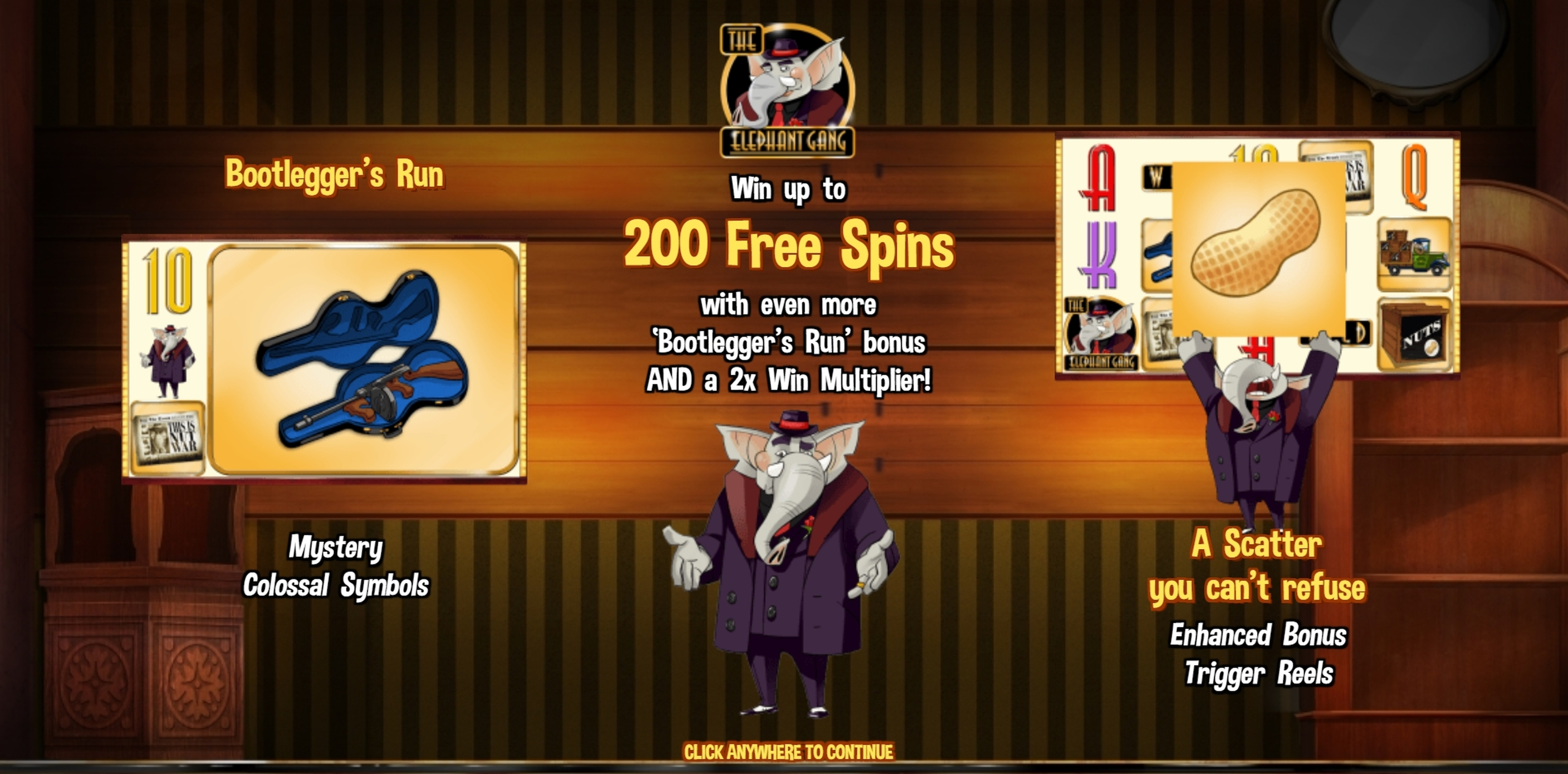 Play The Elephant Gang Free Casino Slot Game by Skyrocket Entertainment