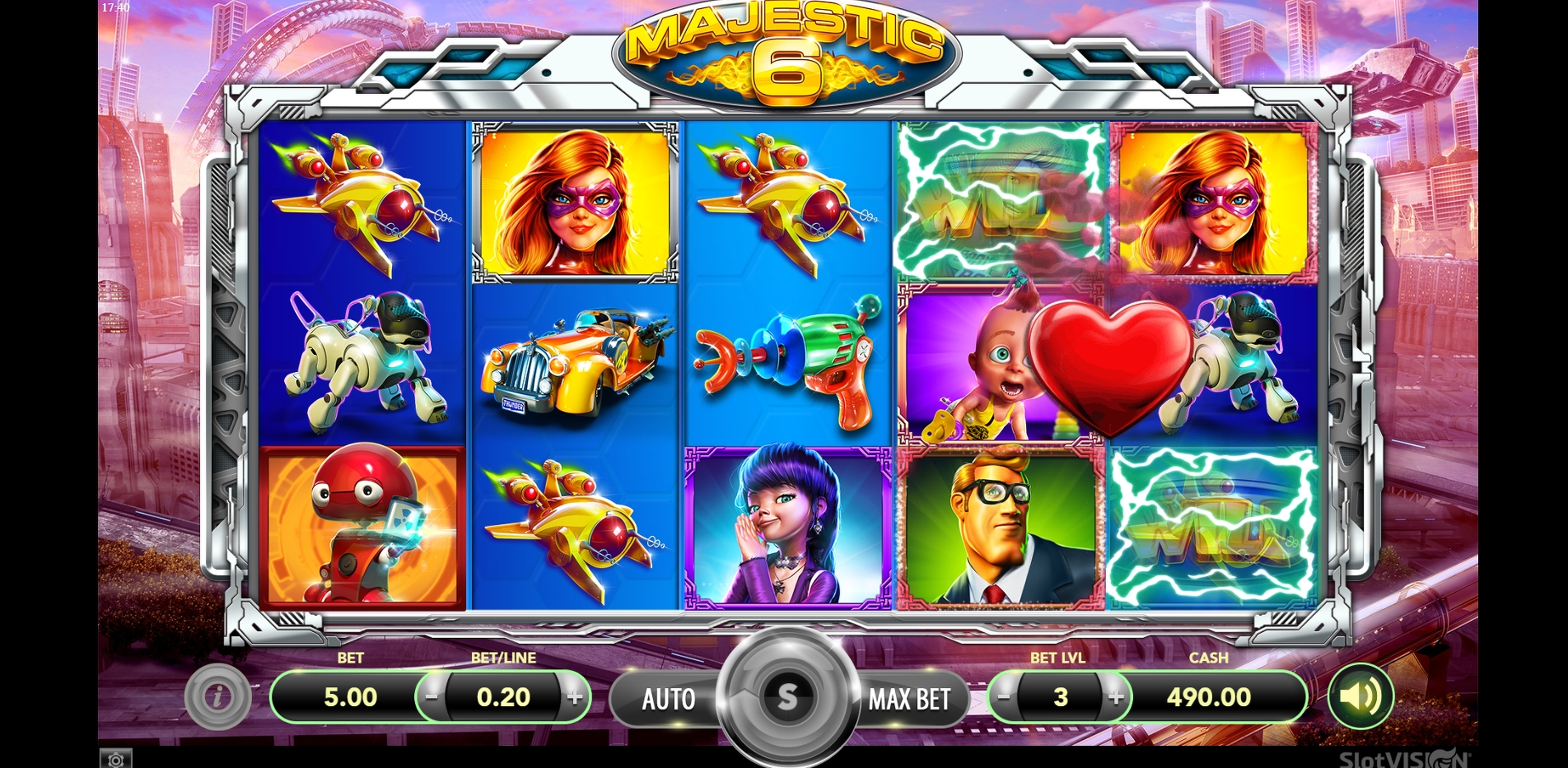 Win Money in Majestic 6 Free Slot Game by SlotVision