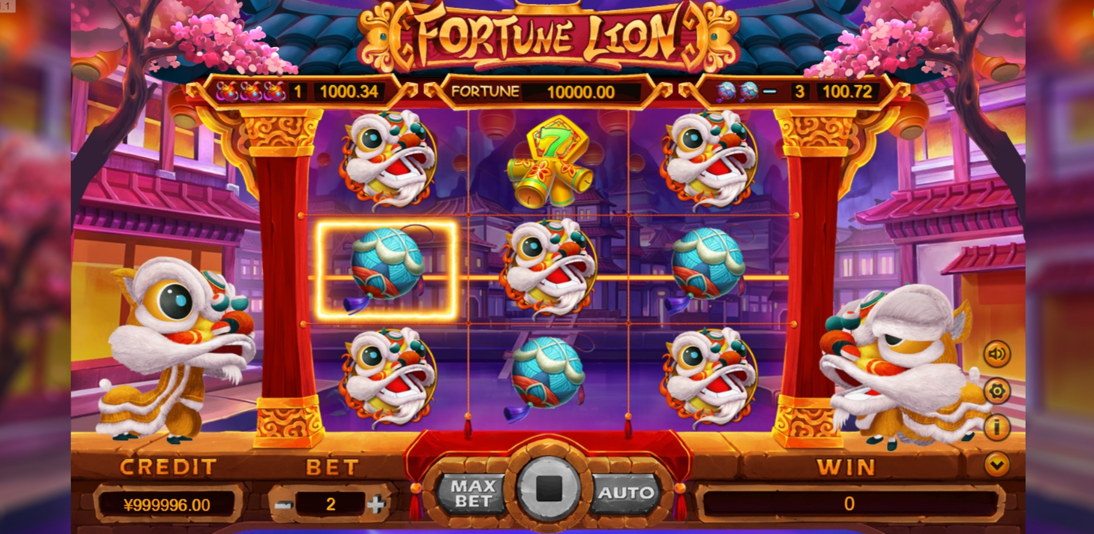 Win Money in Fortune Lion (TIDY) Free Slot Game by TIDY