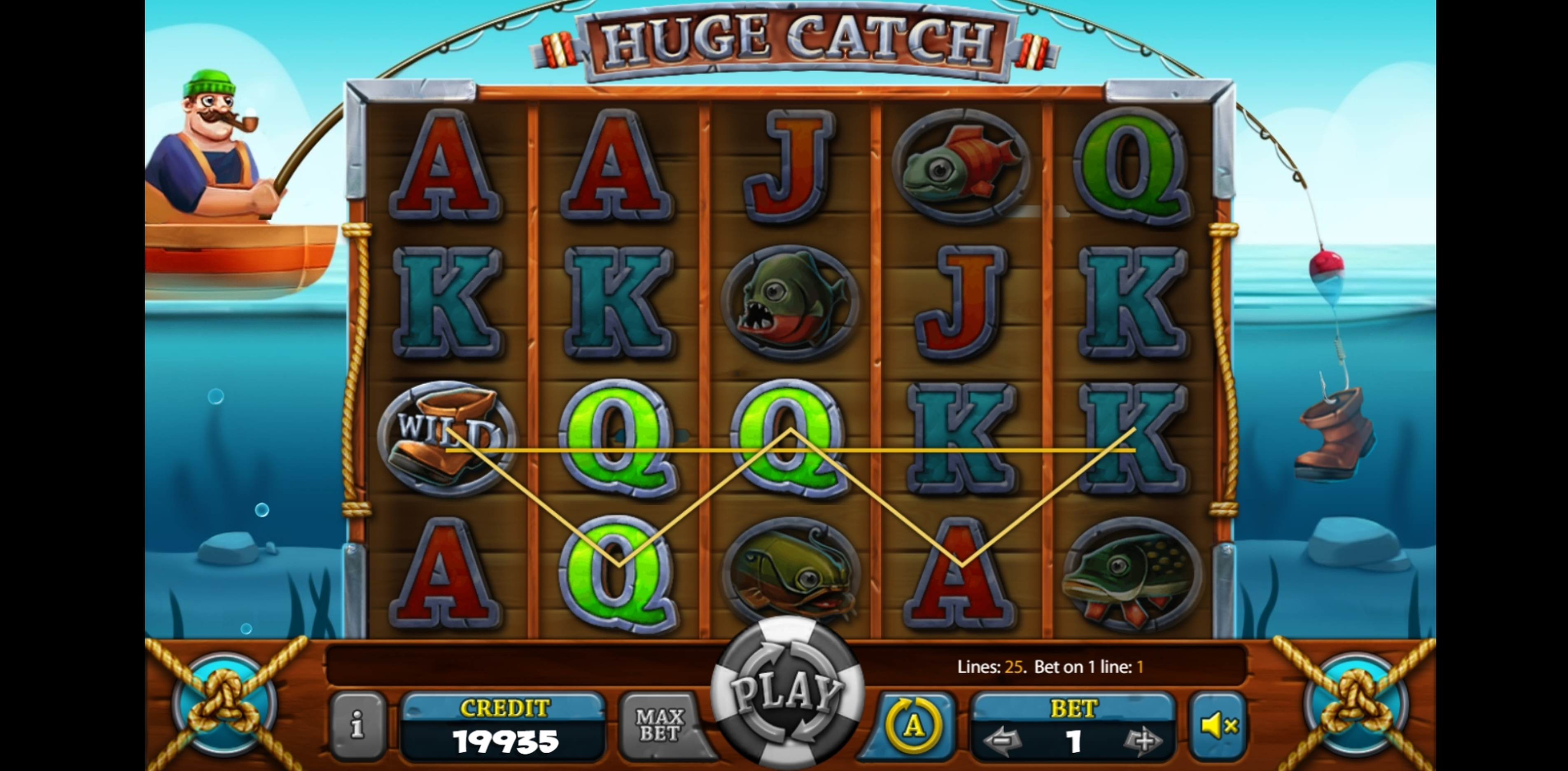 Win Money in Huge Catch Free Slot Game by X Card