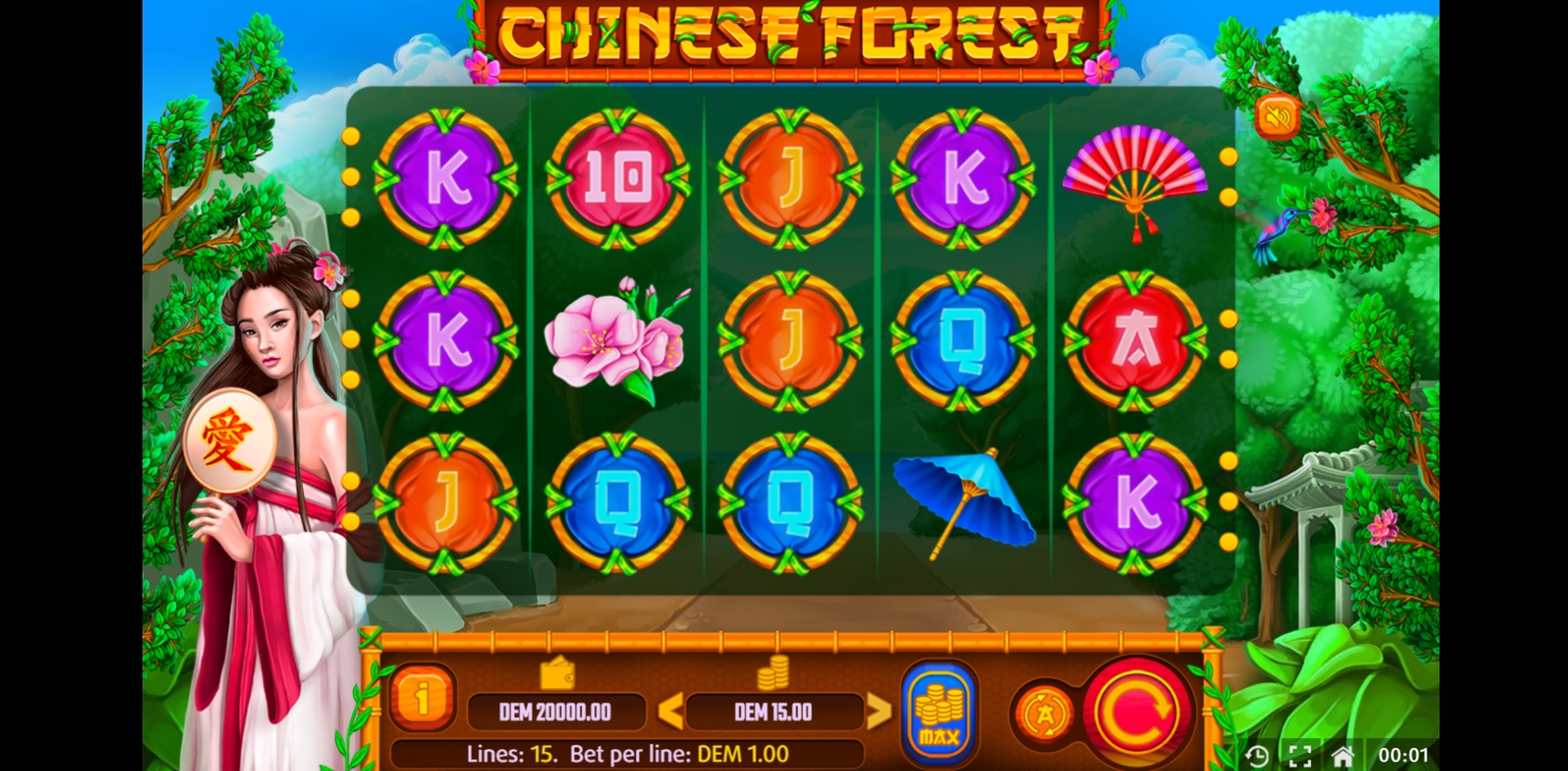 Reels in Chinese Forest Slot Game by X Line