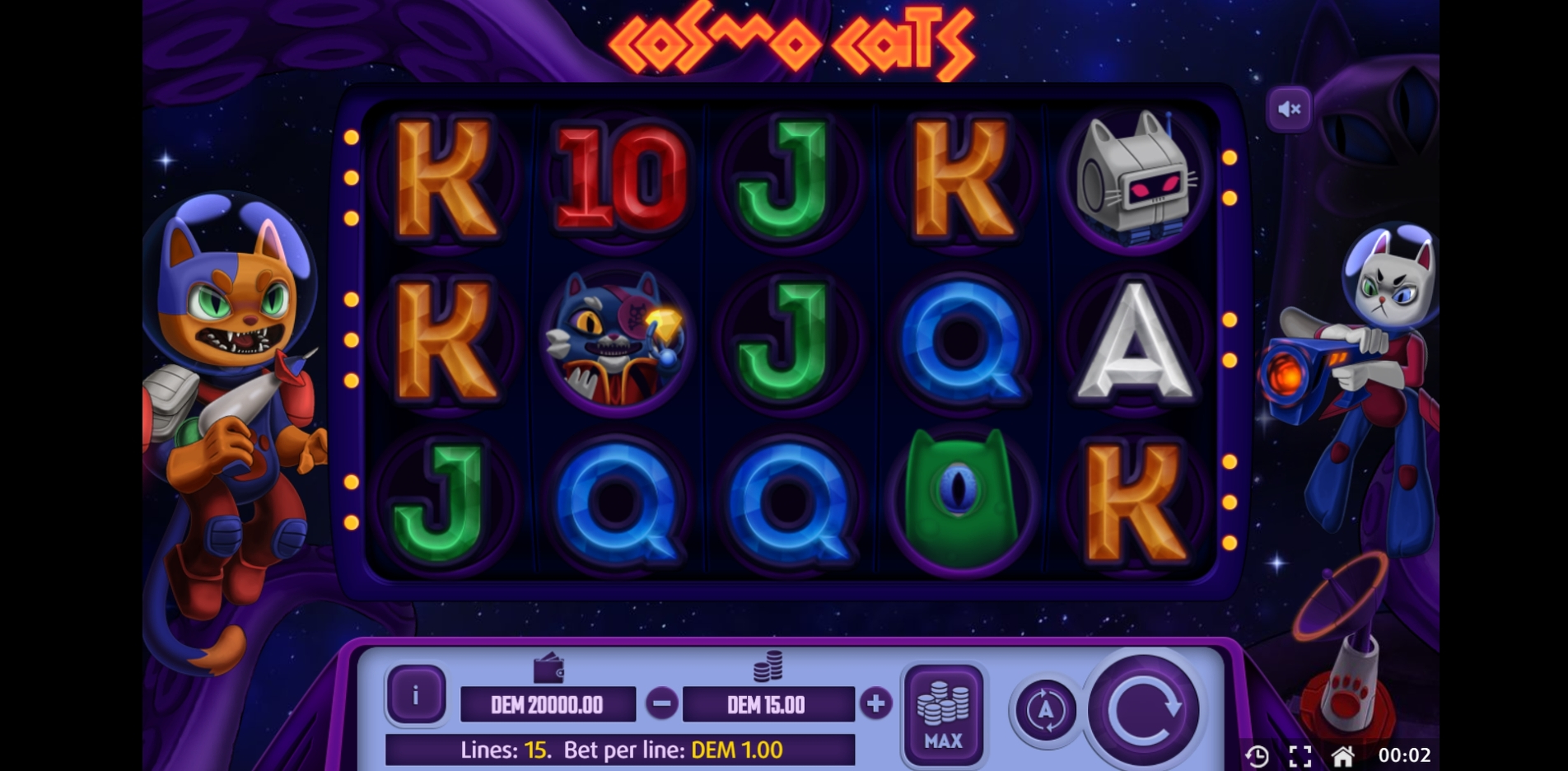 Reels in Cosmo Cats Slot Game by X Line