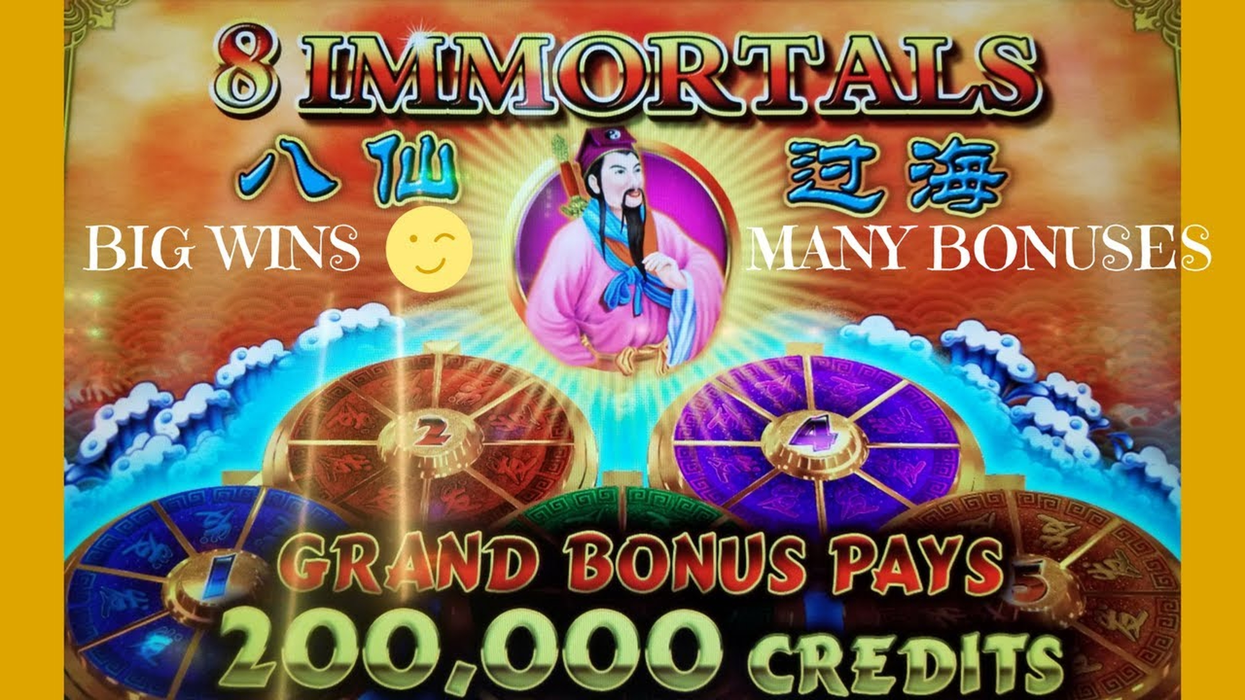 The 8 Immortals Online Slot Demo Game by Ainsworth Gaming Technology