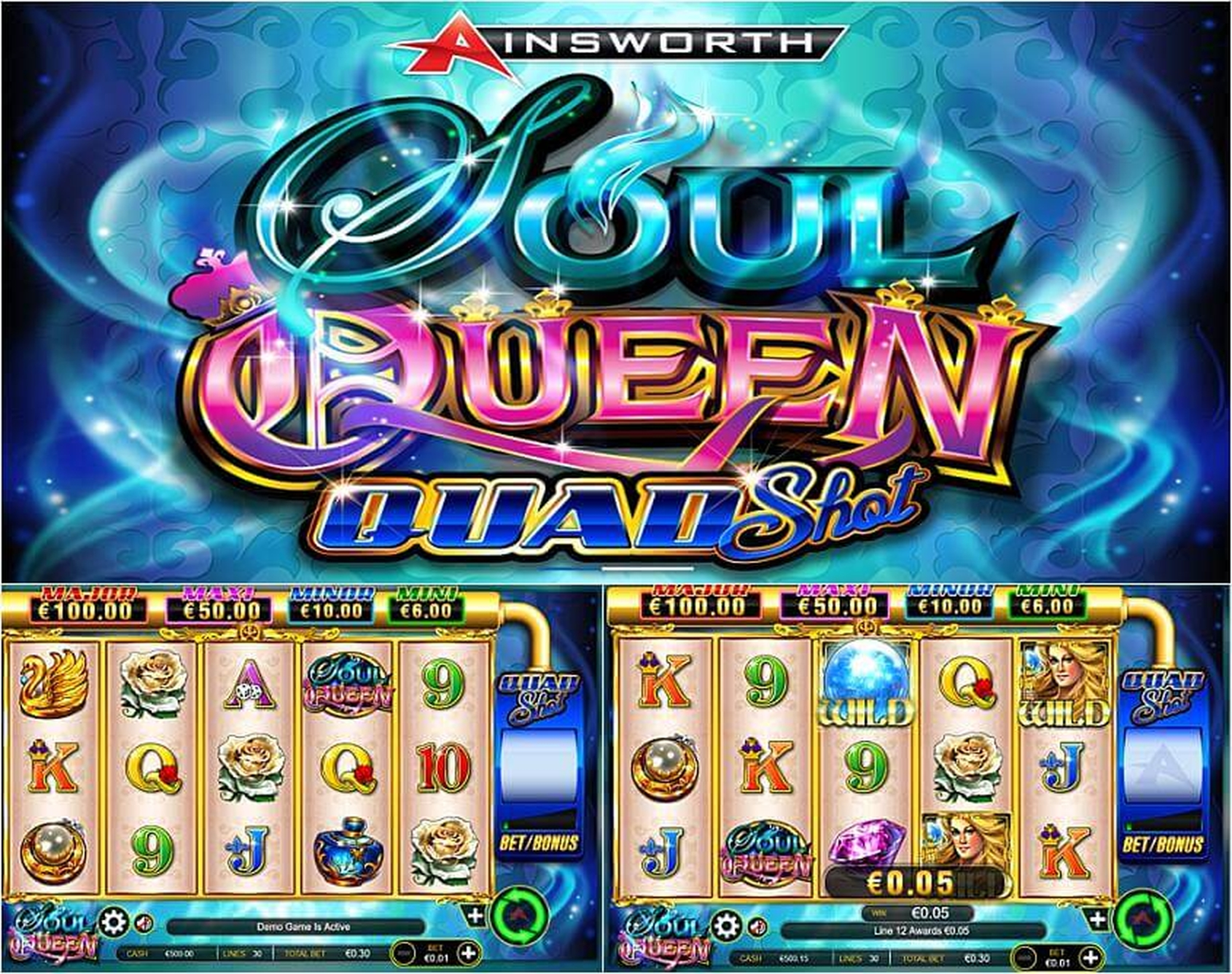 The Soul Queen Quad Shot Online Slot Demo Game by Ainsworth Gaming Technology