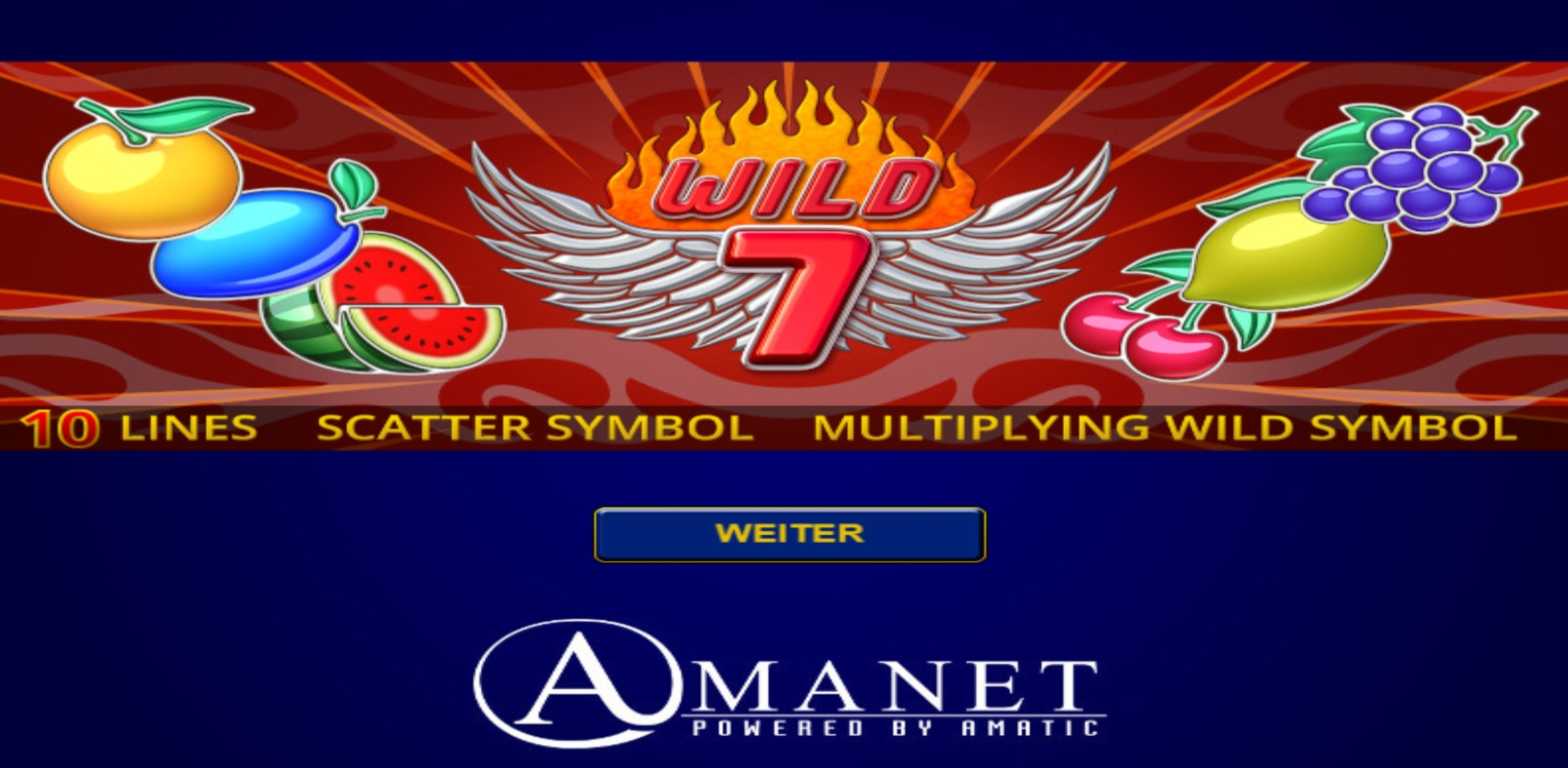 Play Wild 7 Free Casino Slot Game by Amatic Industries