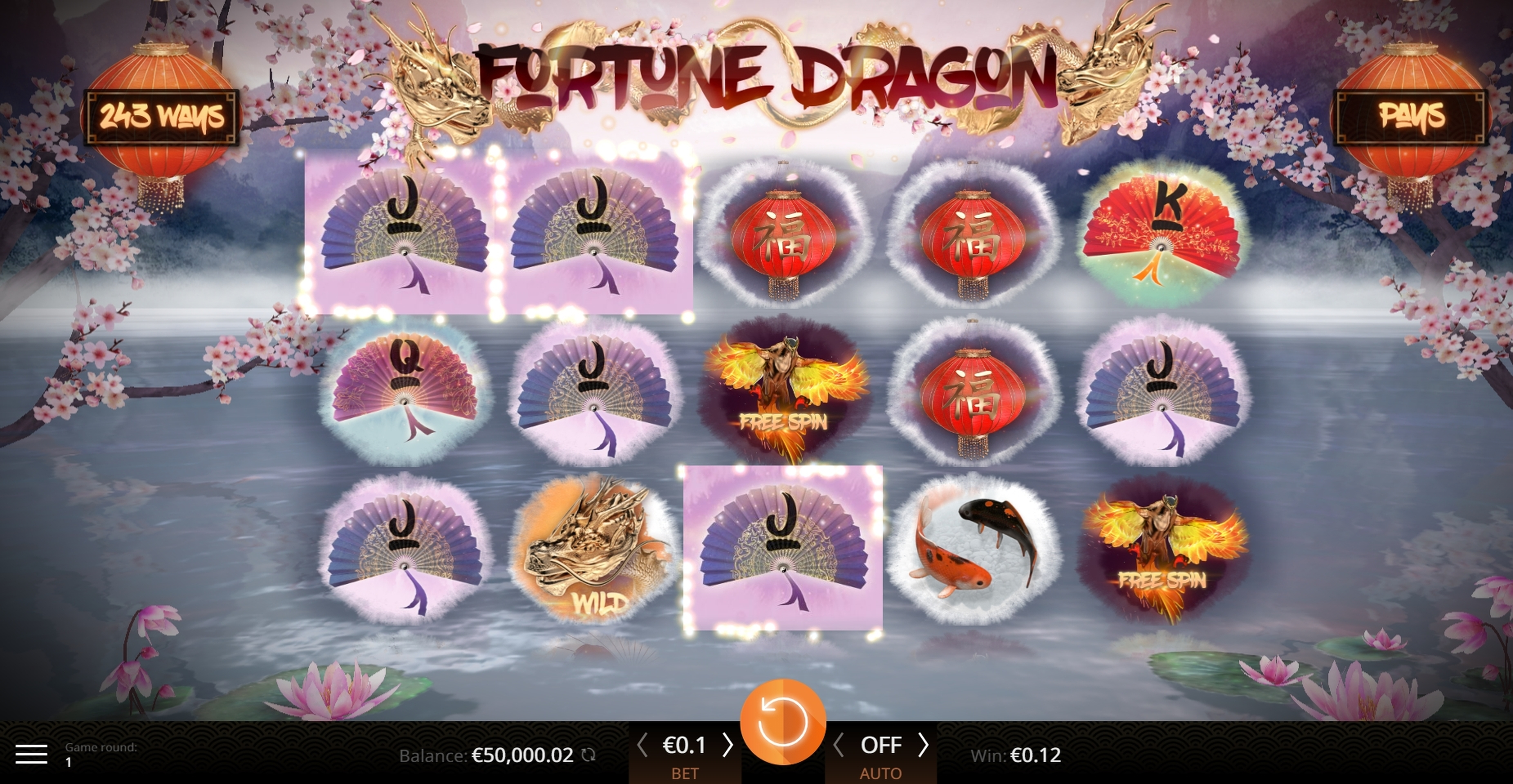 Win Money in Fortune Dragon (Amazing Gaming) Free Slot Game by Amazing Gaming