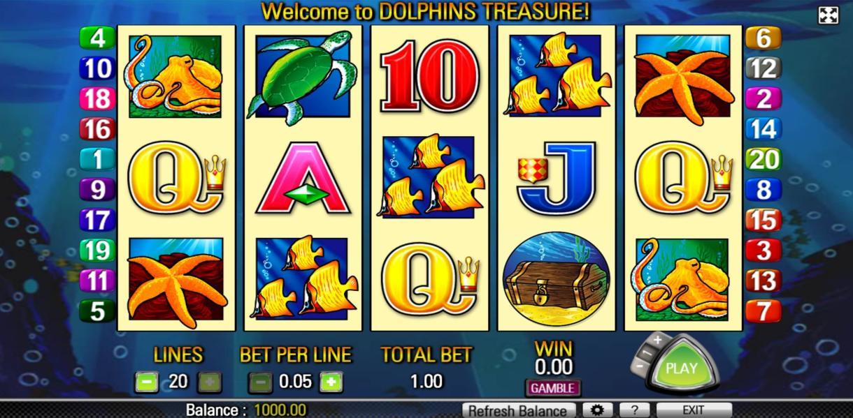 Dolphin Treasure No Download Slot
