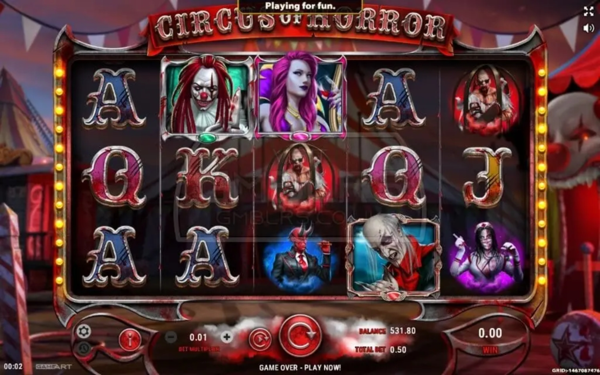 Circus Show Online Slot Demo Game by Aspect Gaming