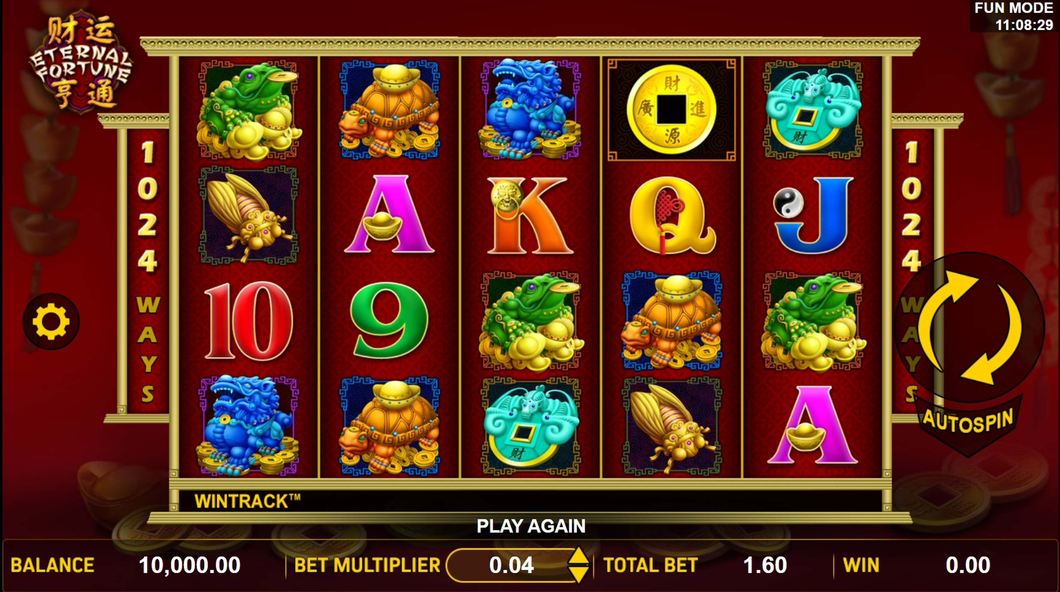 Reels in Eternal Fortune Slot Game by Aspect Gaming