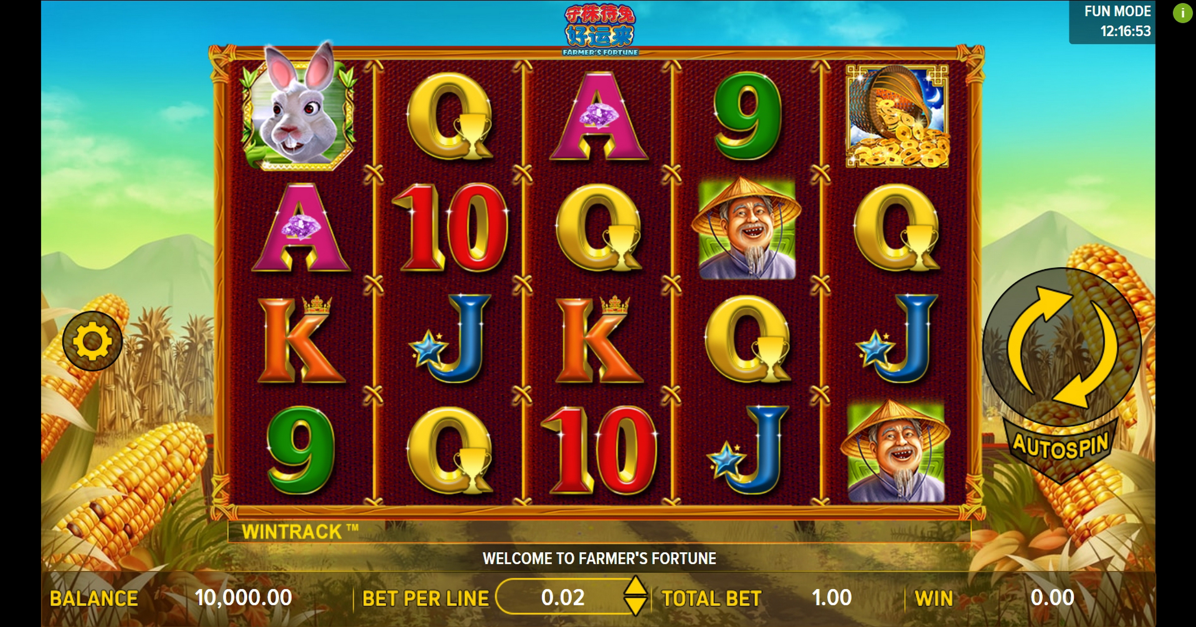 Reels in Farmers Fortune Slot Game by Aspect Gaming