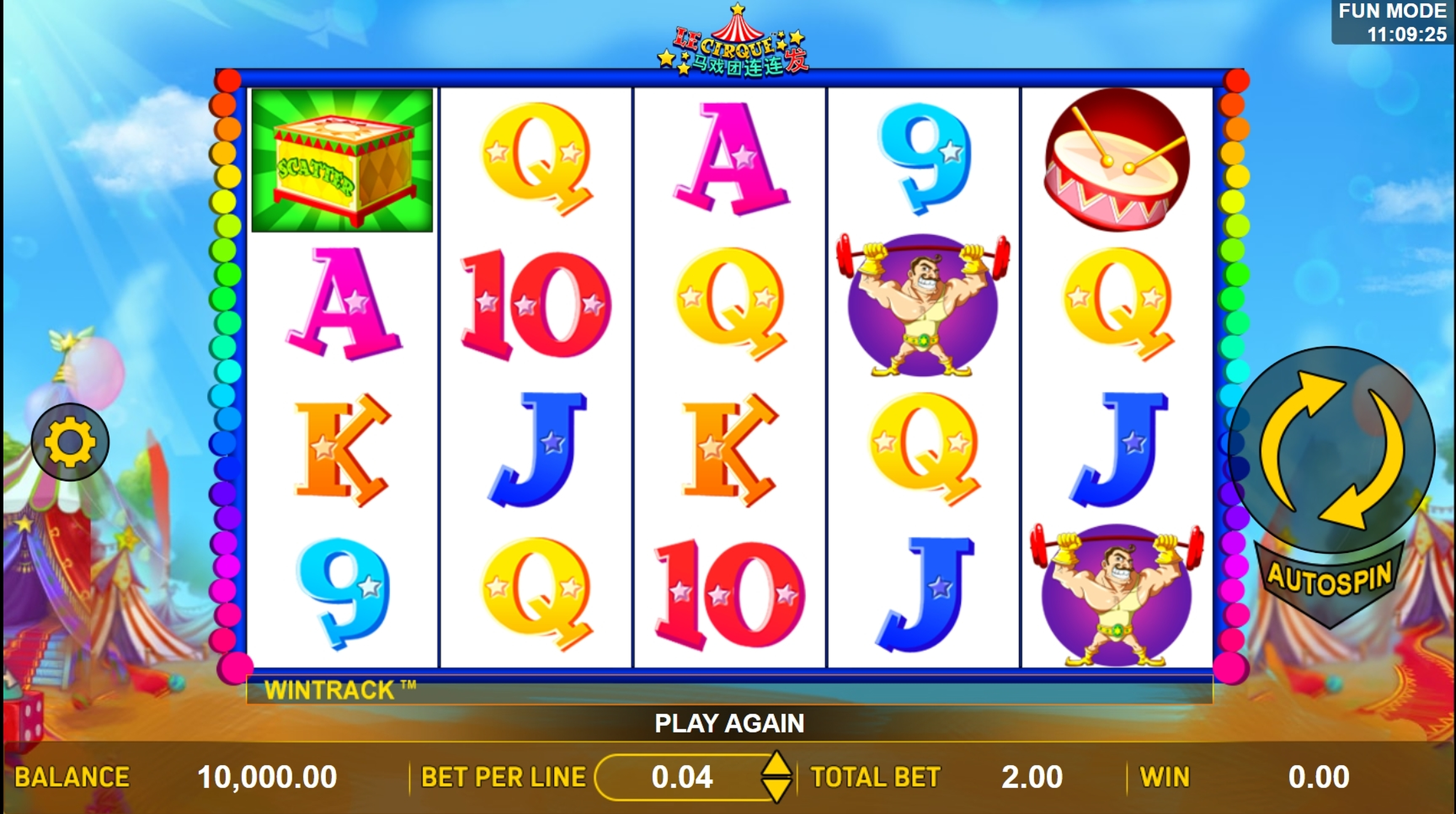 Reels in Le Cirque Slot Game by Aspect Gaming