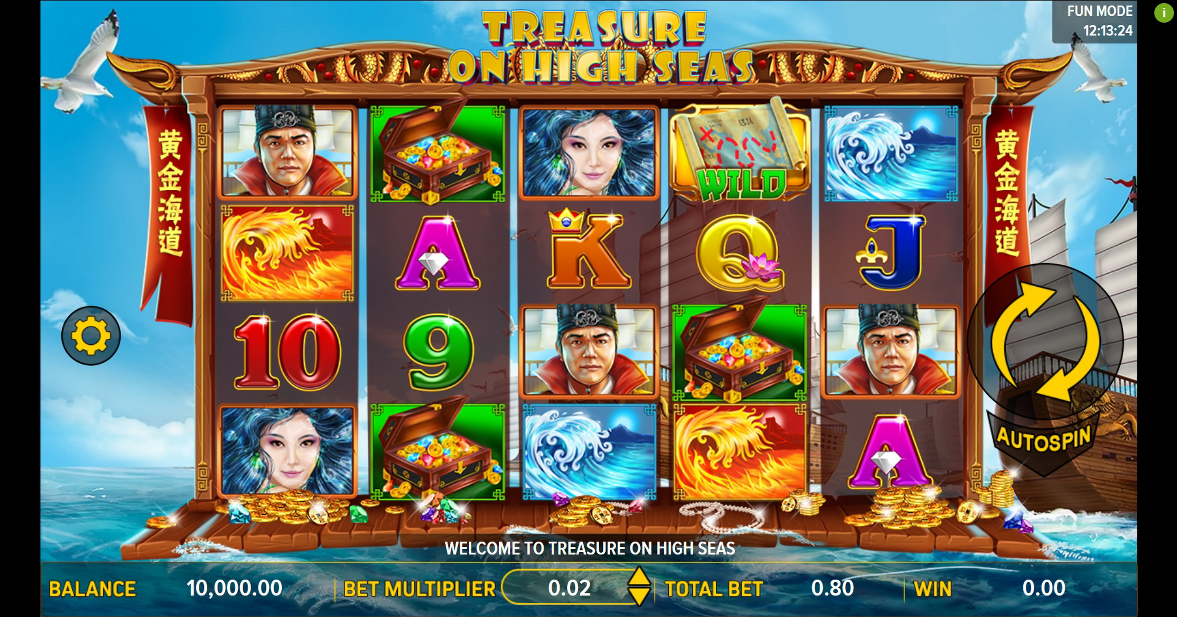 Reels in Treasure on High Seas Slot Game by Aspect Gaming