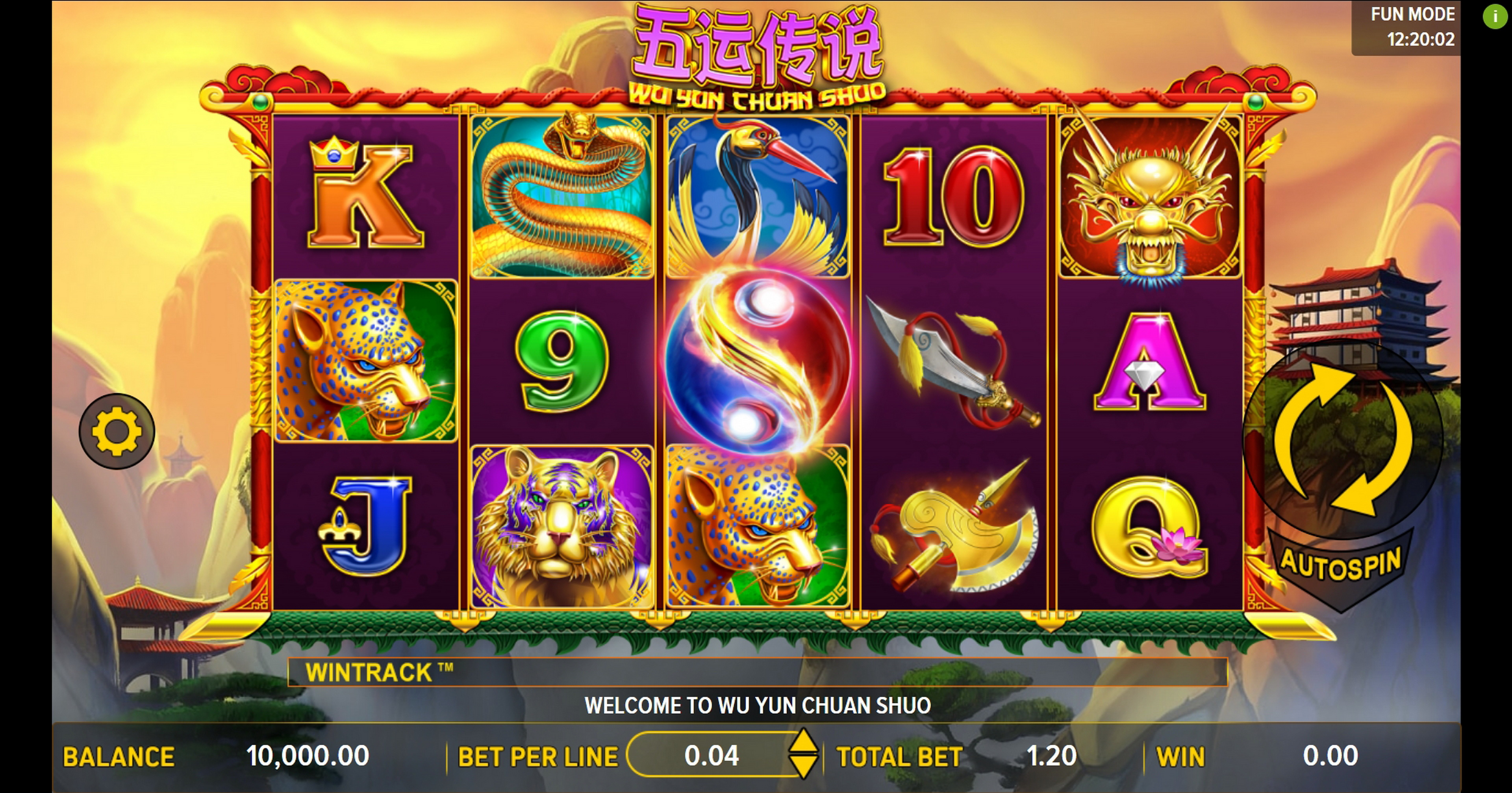 Reels in Wu Yun Thuan Shuo Slot Game by Aspect Gaming